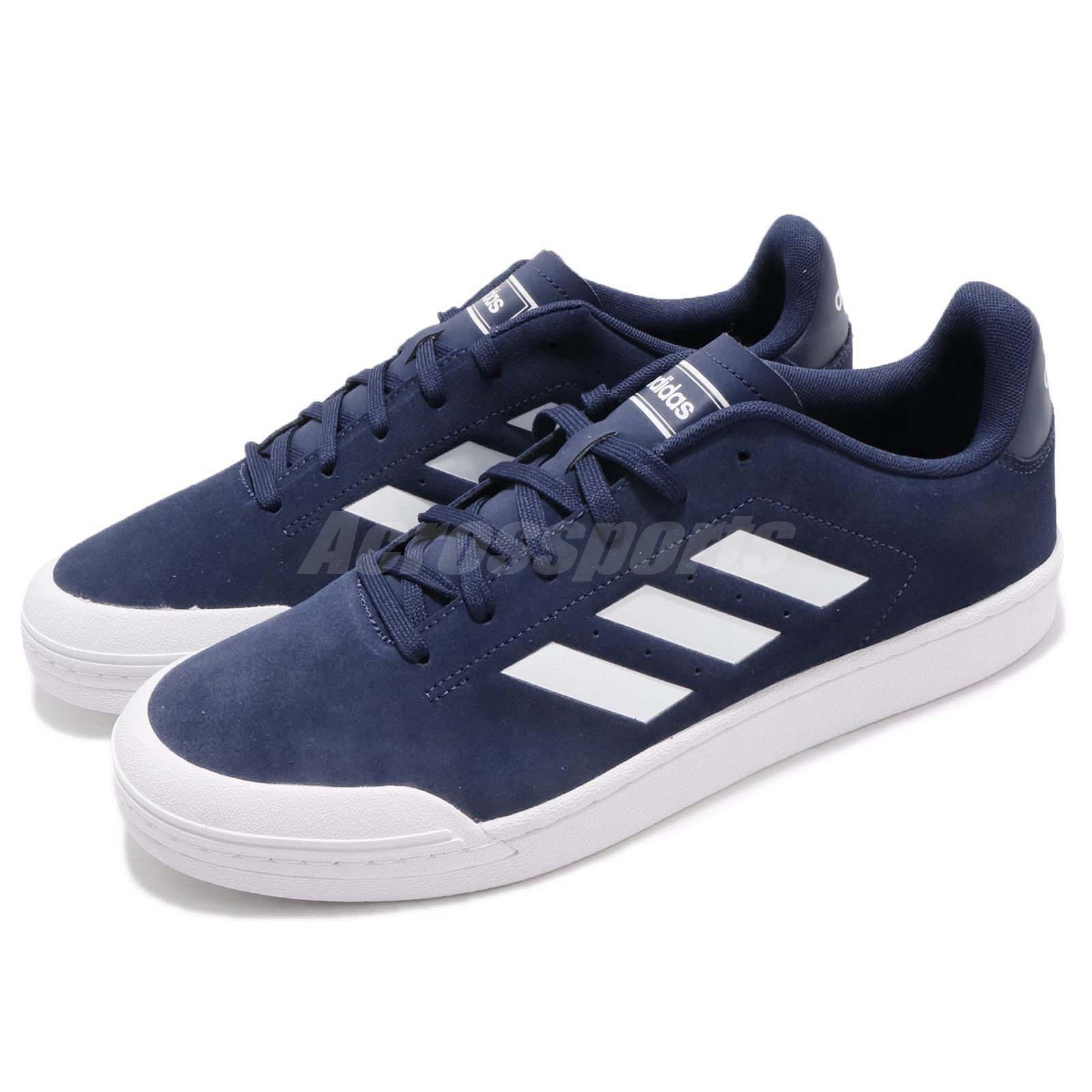 Adidas Court 70s Dark Blue White Navy Men Tennis Casual Shoes