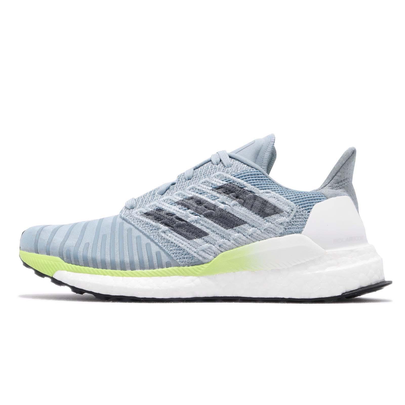 30378eab68111 adidas Solar BOOST W Grey Onix Blue Hi-Res Yellow Women Running Shoes B96285