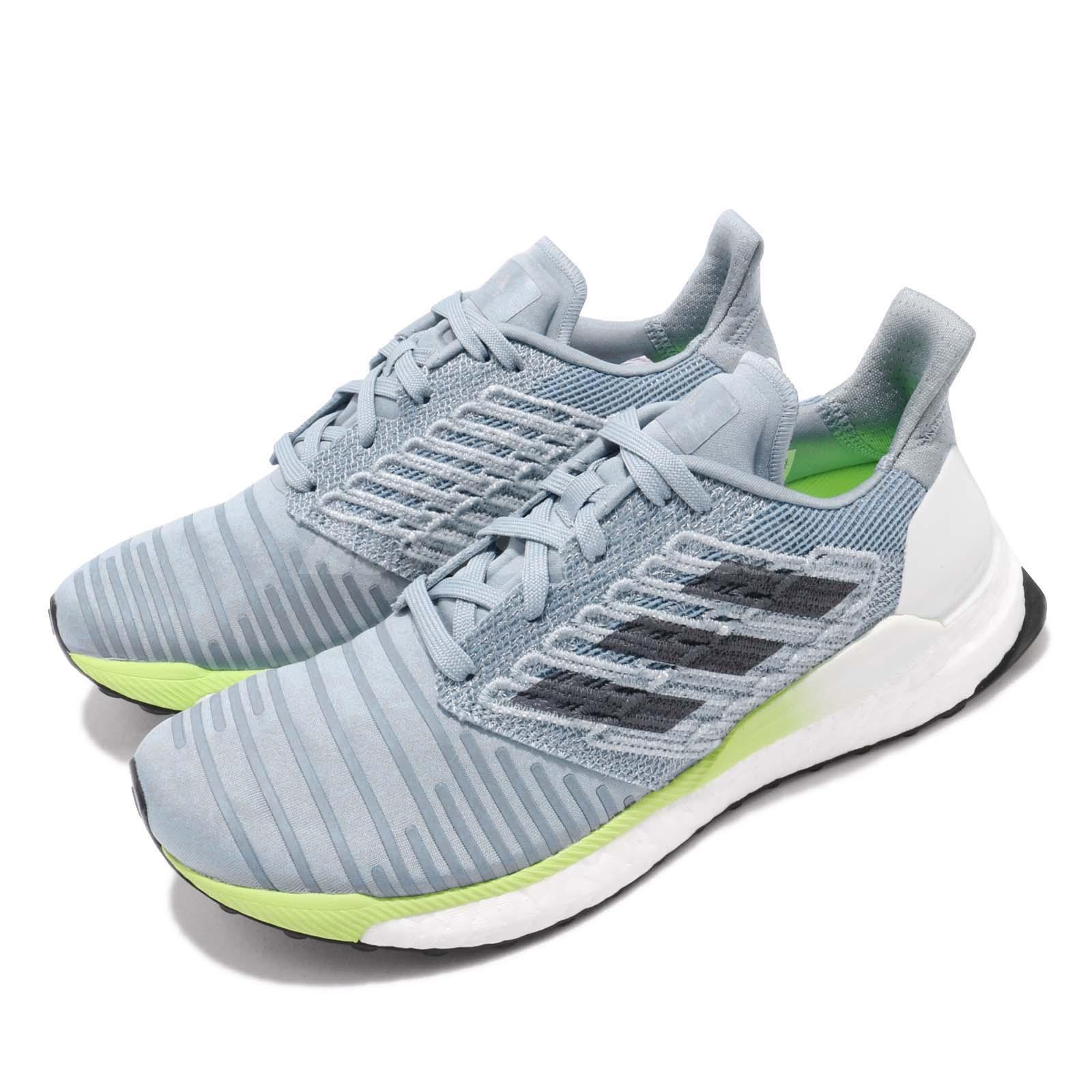 huge discount d0b1f f7b9a Details about adidas Solar BOOST W Grey Onix Blue Hi-Res Yellow Women  Running Shoes B96285