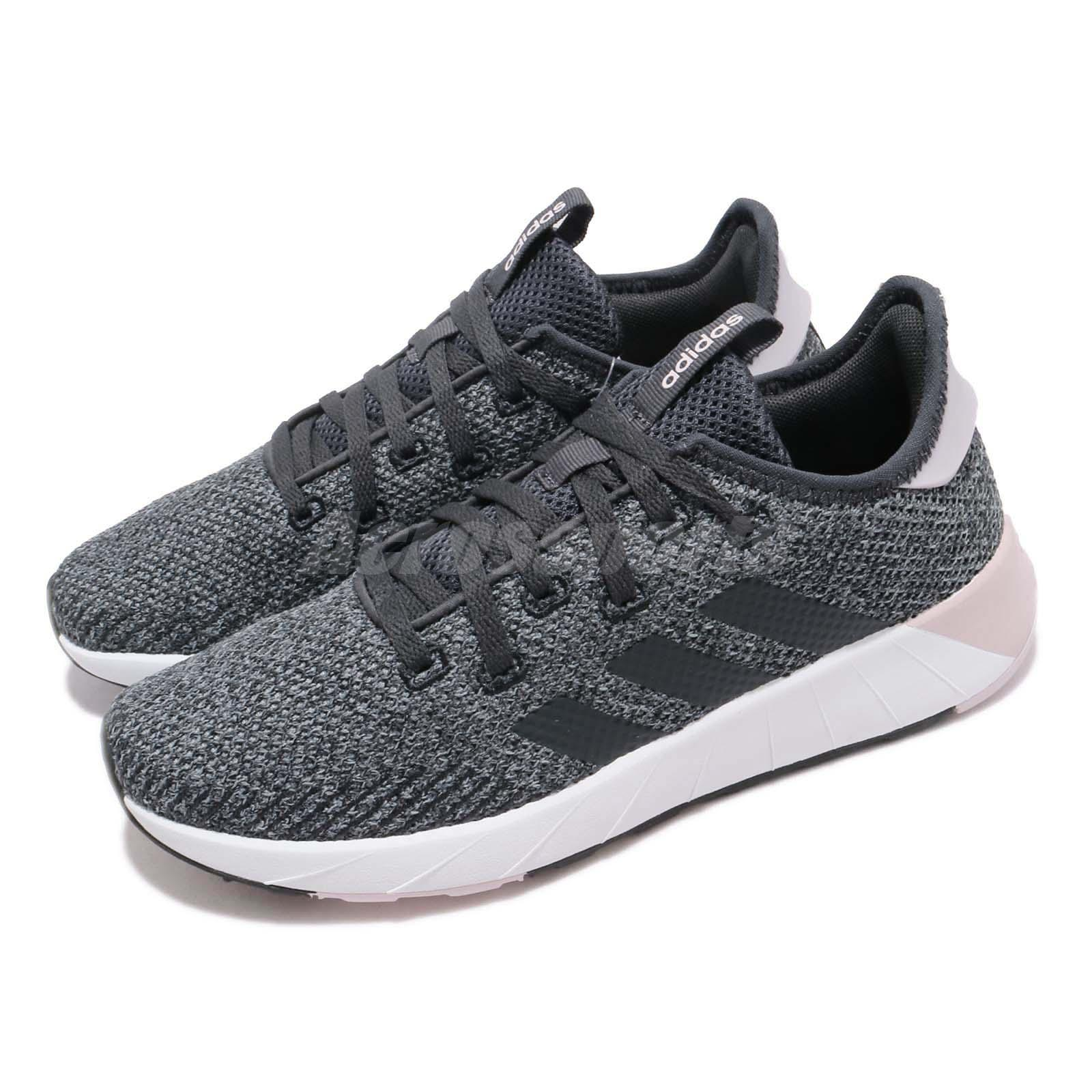 cheap outlet new concept adidas Questar X BYD Black Carbon Grey White Women Running Shoes ...