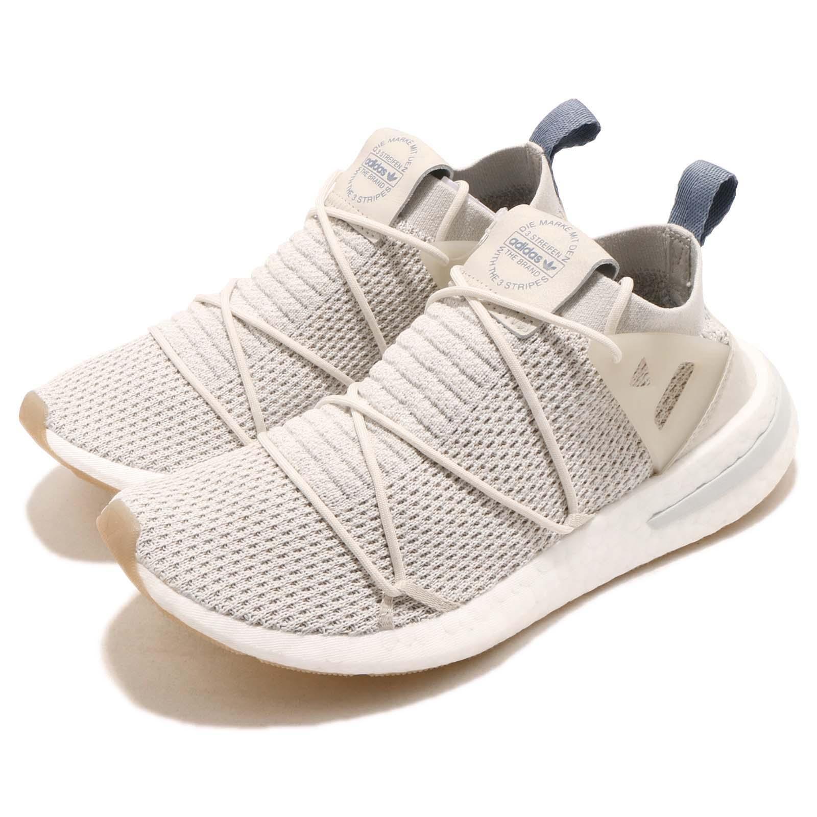 lowest price 97478 beca7 Details about adidas Originals ARKYN PK W Primeknit Boost Talc Linen Women  Running Shoe B96509