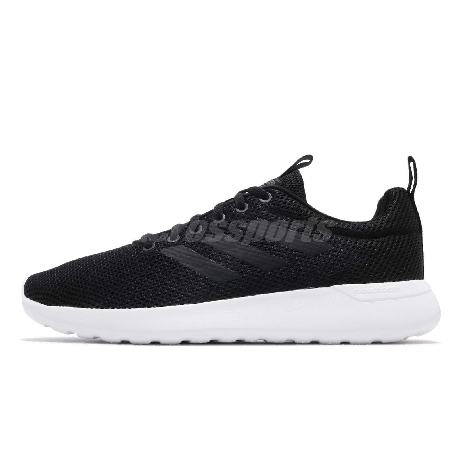 check out de5b4 6a740 adidas Lite Racer CLN Black Carbon White Men Running Shoes Sneakers B96569
