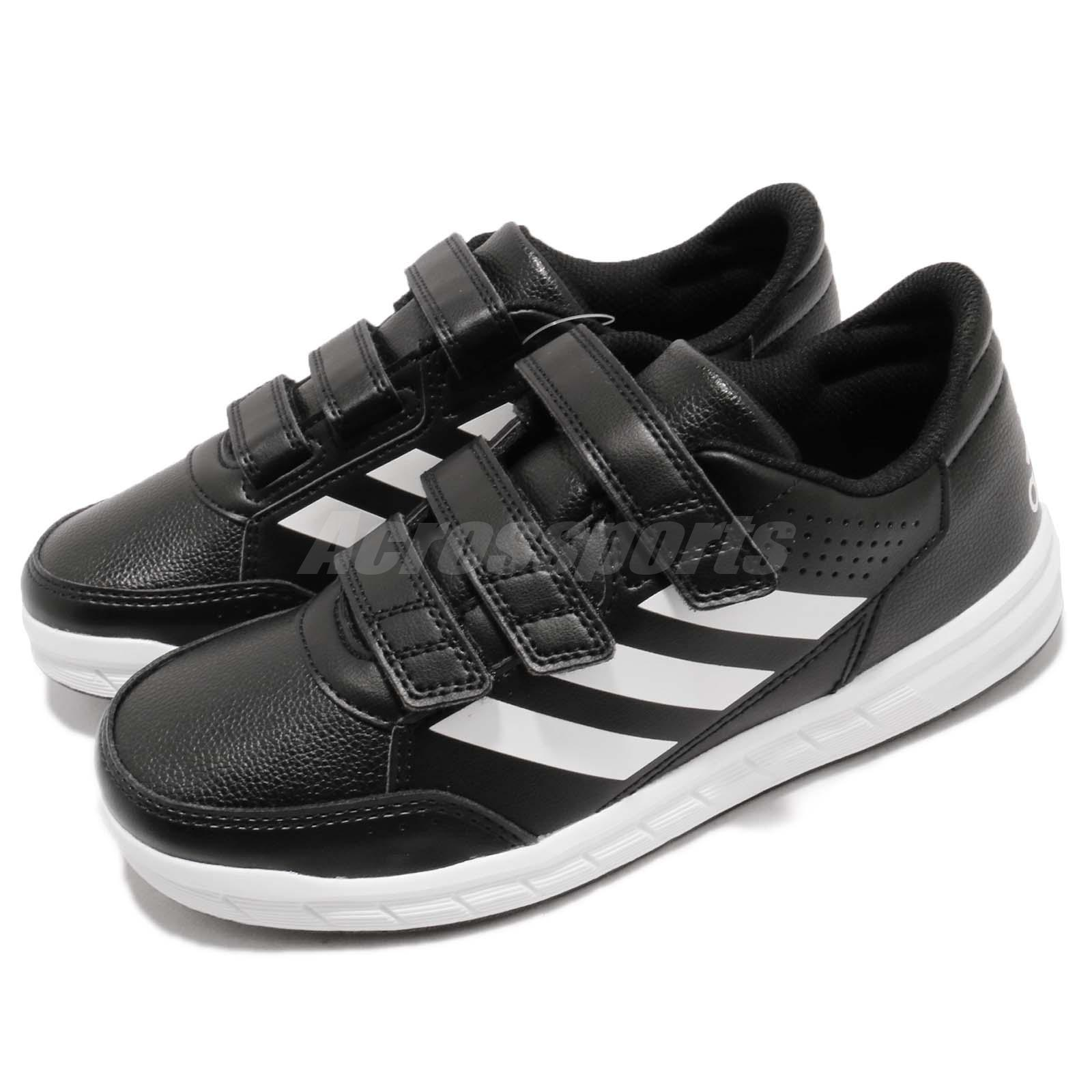 low priced 1e546 57bbb Details about adidas AltaSport CF K Black White Strap Kid Junior Youth Shoes  Sneakers BA7459