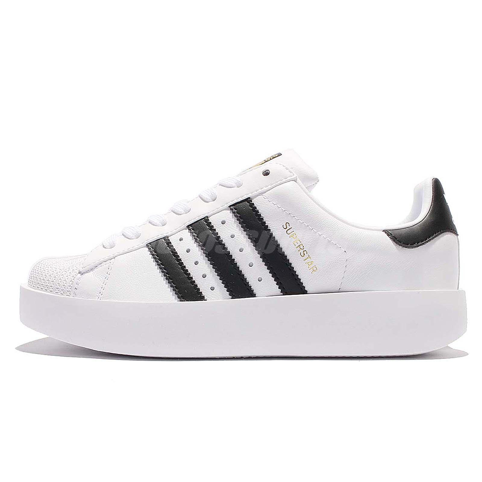buy online f58f3 59ccd adidas Originals Superstar Bold Platform W White Gold Women Classic Shoes  BA7666