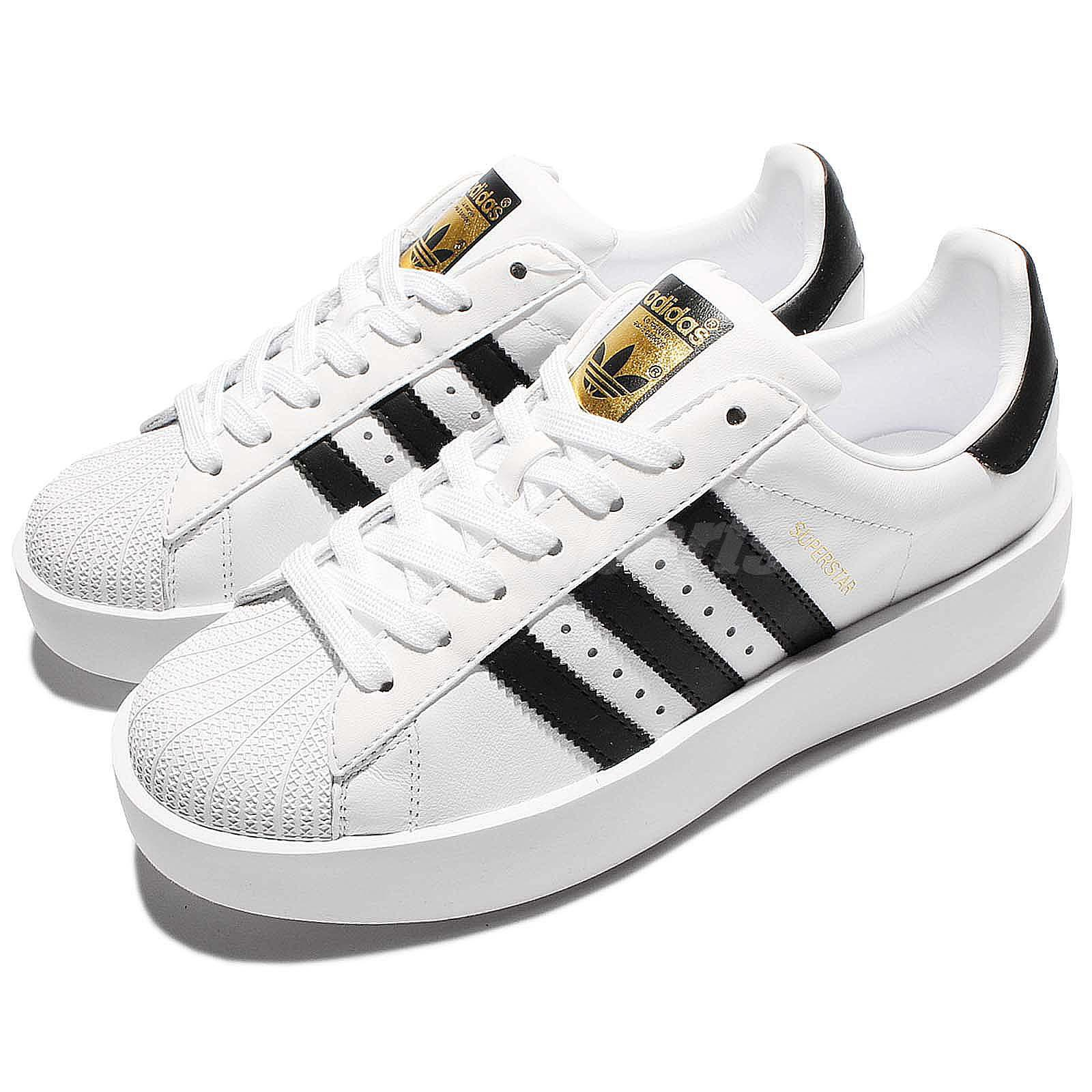 adidas originals superstar bold platform w white gold women classic shoes ba7666 ebay. Black Bedroom Furniture Sets. Home Design Ideas