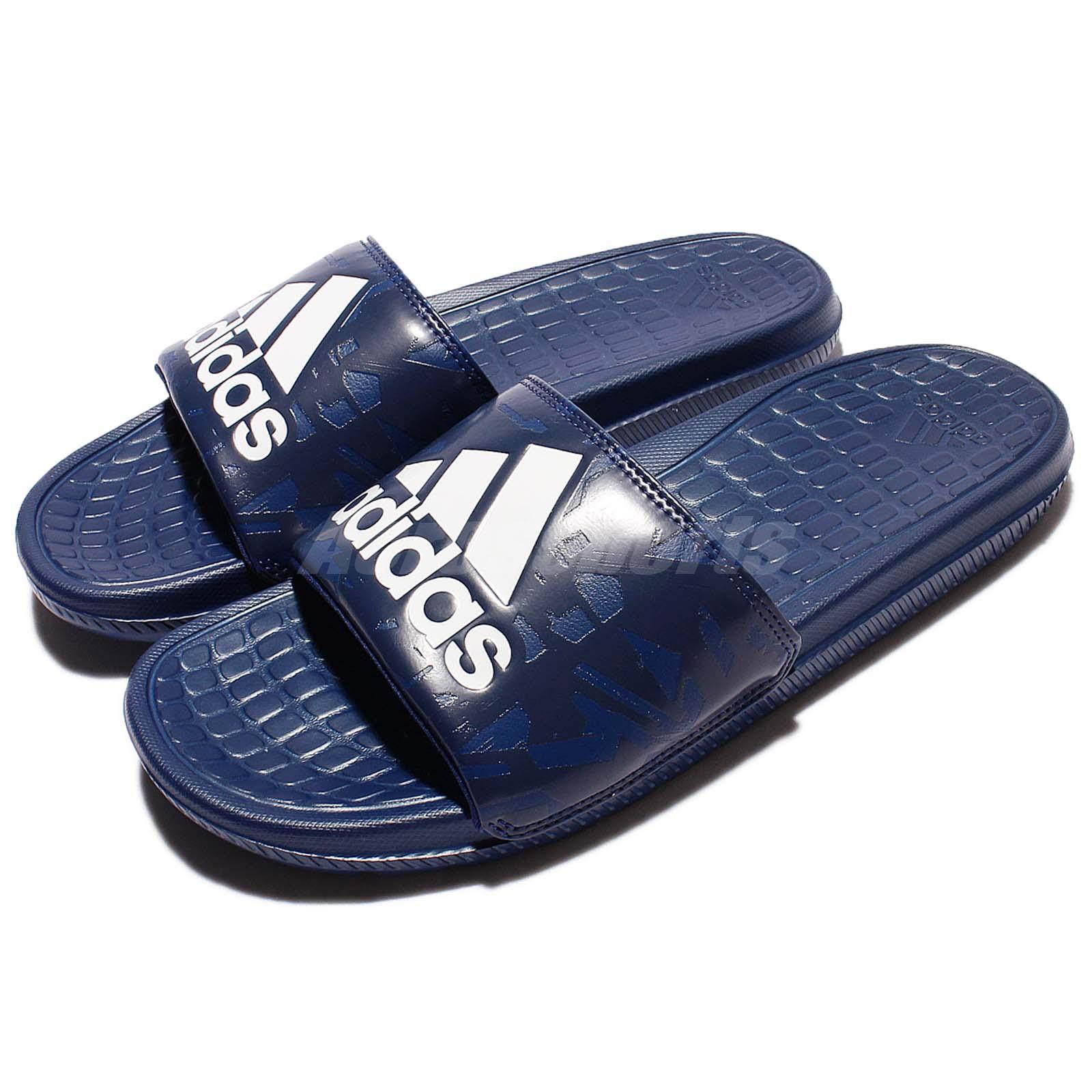 aaaeef55d502 Details about adidas Performance Voloomix GR Blue Navy White Men Sandal  Slipper Slides BA8858