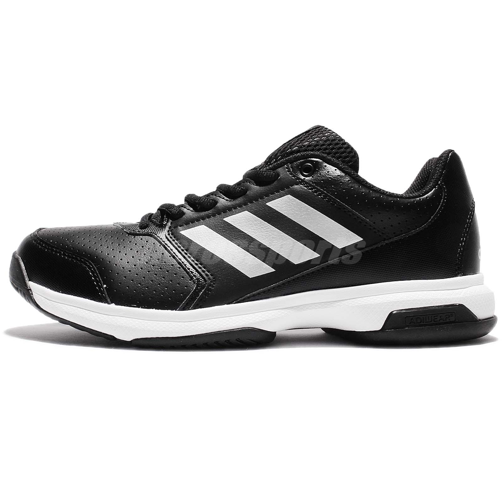 premium selection 4d779 c7879 adidas Adizero Attack Black White Men Tennis Shoes Sneakers Trainers BA9083