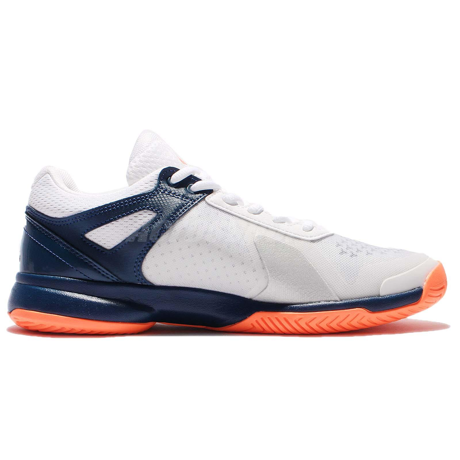 first rate 6e8ad f9206 adidas Adizero Court Navy White Orange Men Tennis Shoes Sneakers Trainers  BA9085  eBay