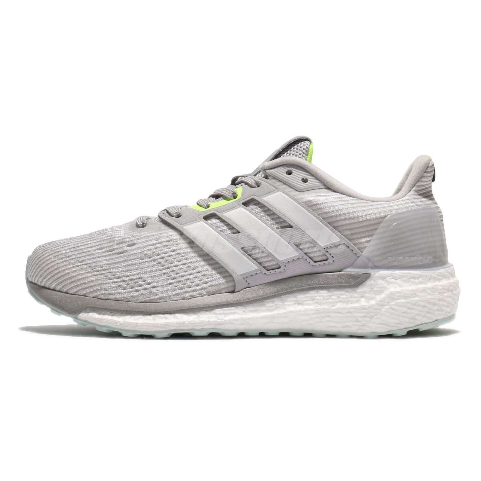 big sale 063dd bbdc9 Adidas Supernova Continental BOOST Grey Green Women Running Shoes BA9937 Sz  11
