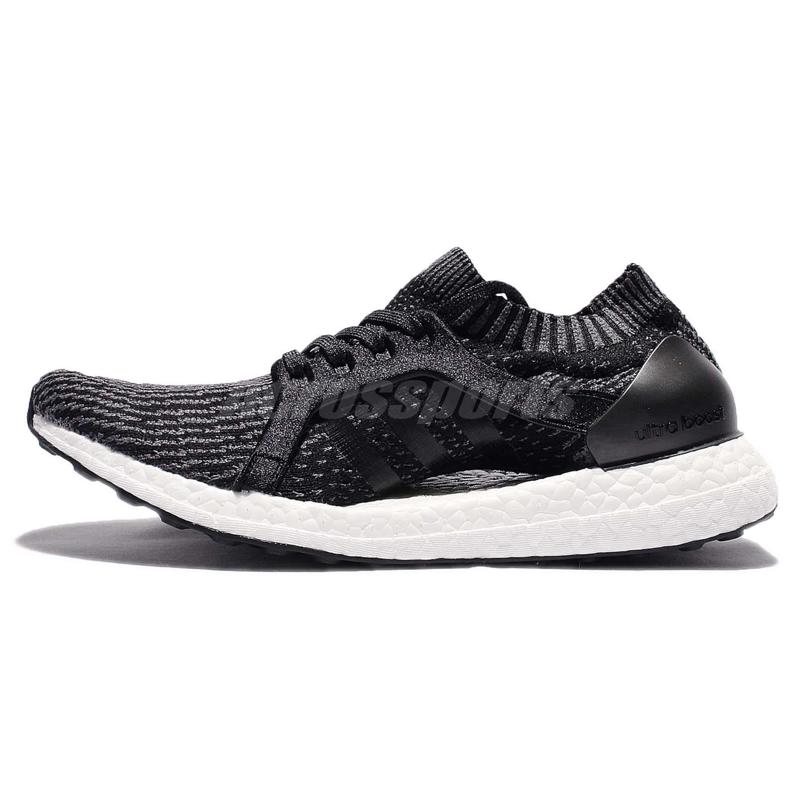 adidas UltraBOOST X Black Grey Torsion Continental Women Running Trainers  BB1696