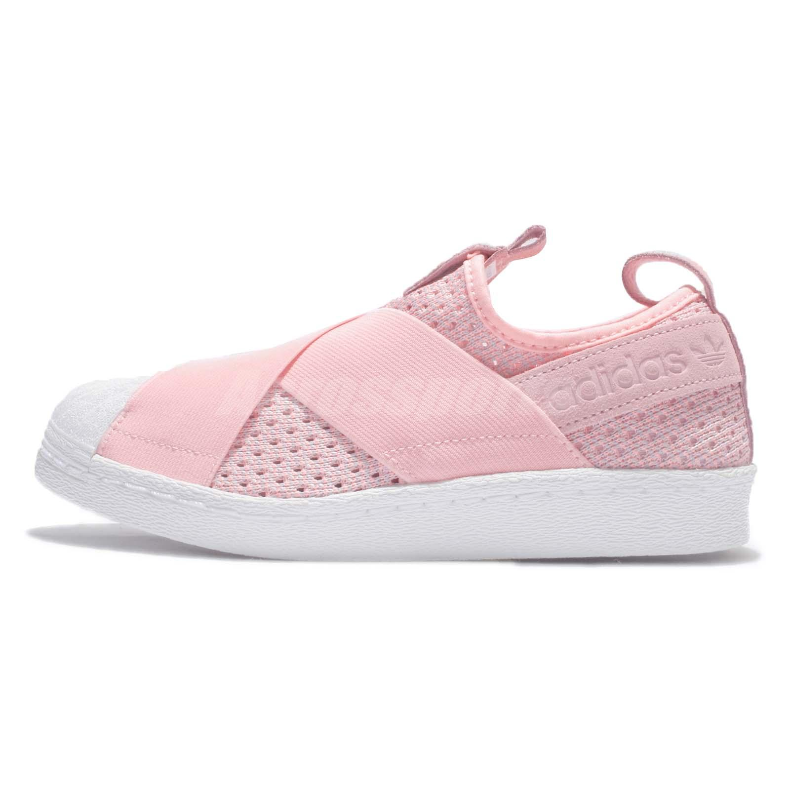 adidas Originals Superstar Slip On W Pink White Womens Casual Shoes BB2122