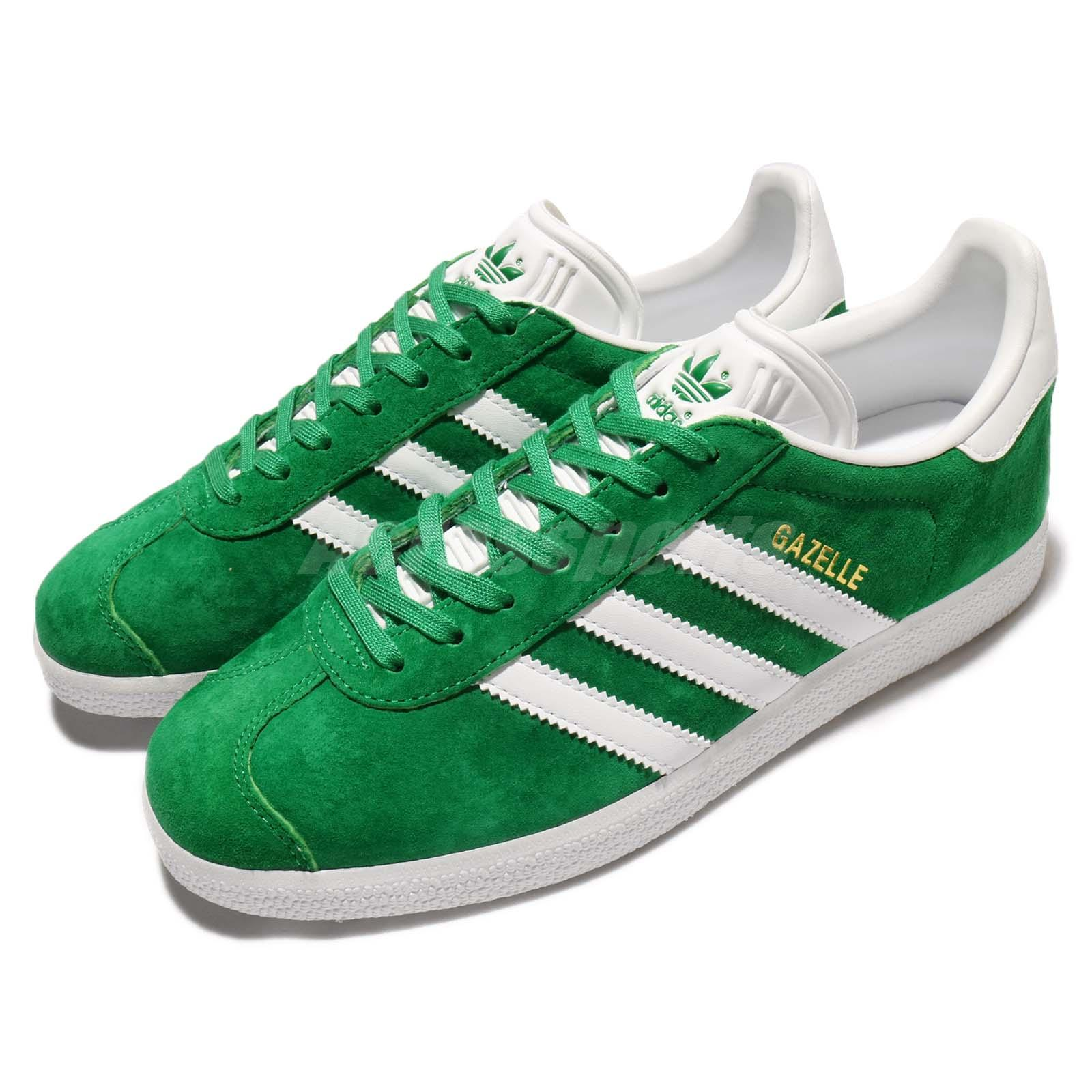 adidas Originals Gazelle Green White Nubuck Men Classic Shoe Sneaker BB5477