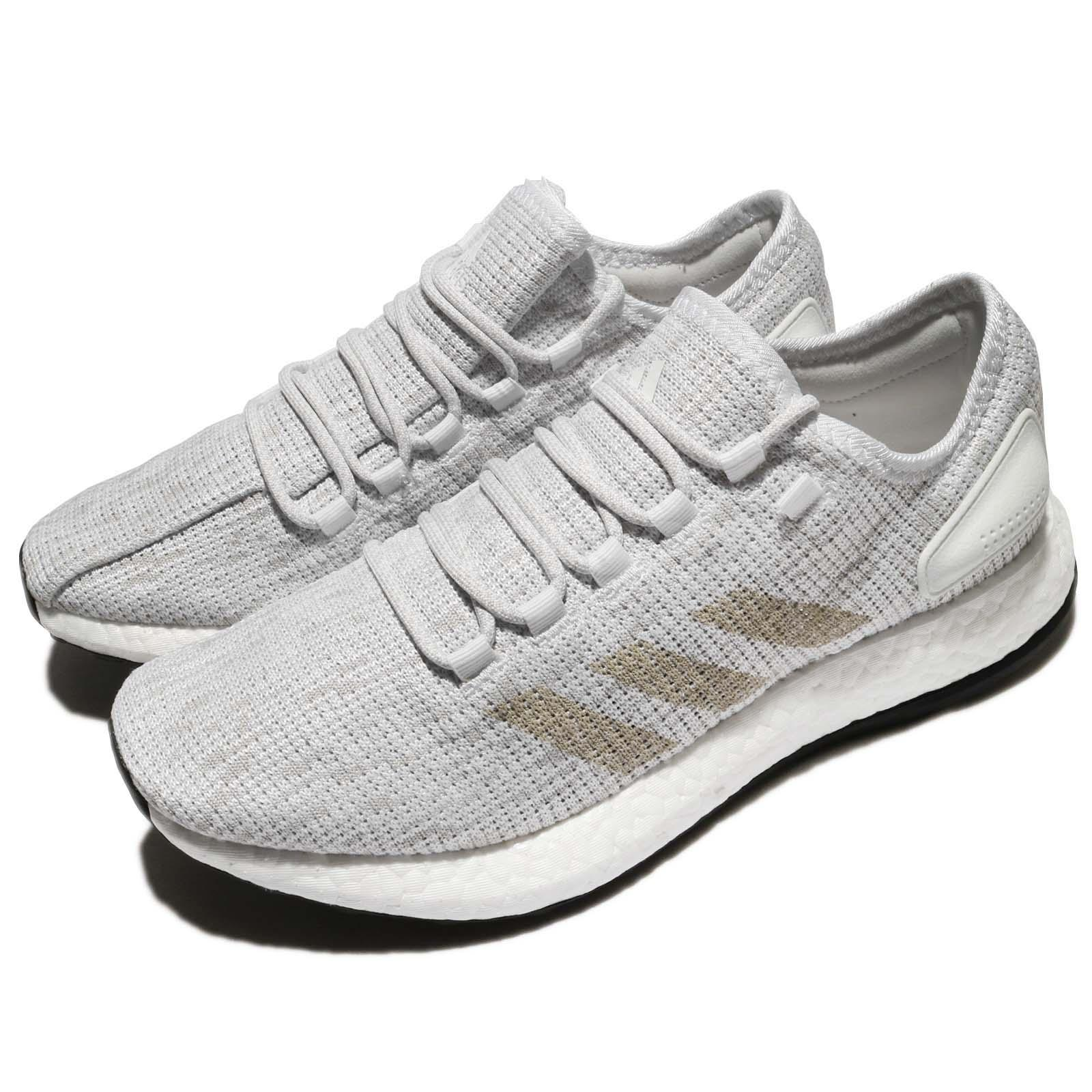 hot sales 8fb7b d62ab Details about adidas PureBOOST White Grey Men Running Shoes Sneakers  Trainers BB6277