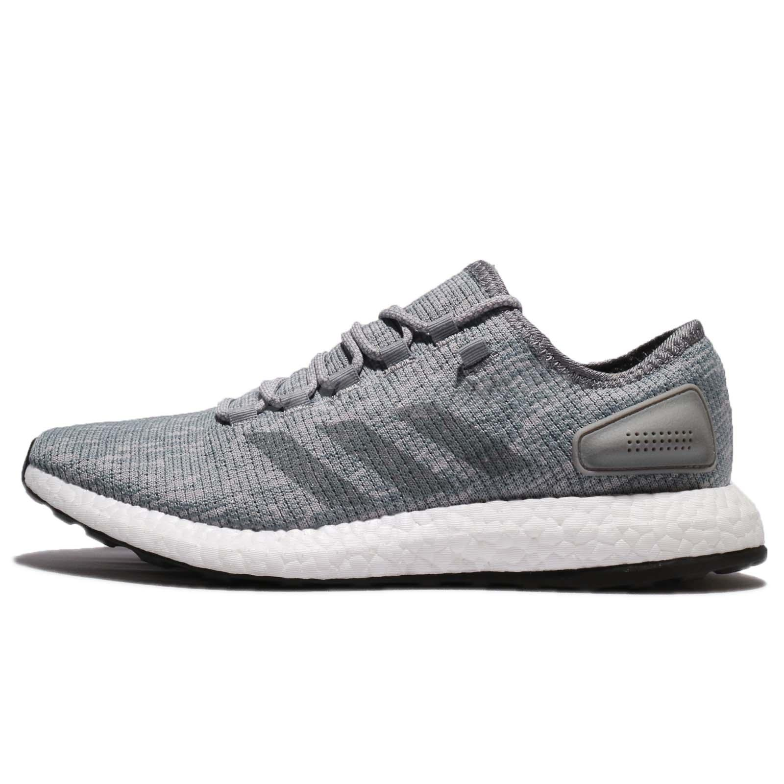 23e224b64 adidas PureBOOST Grey White Men Running Shoes Sneakers Trainers BB6278