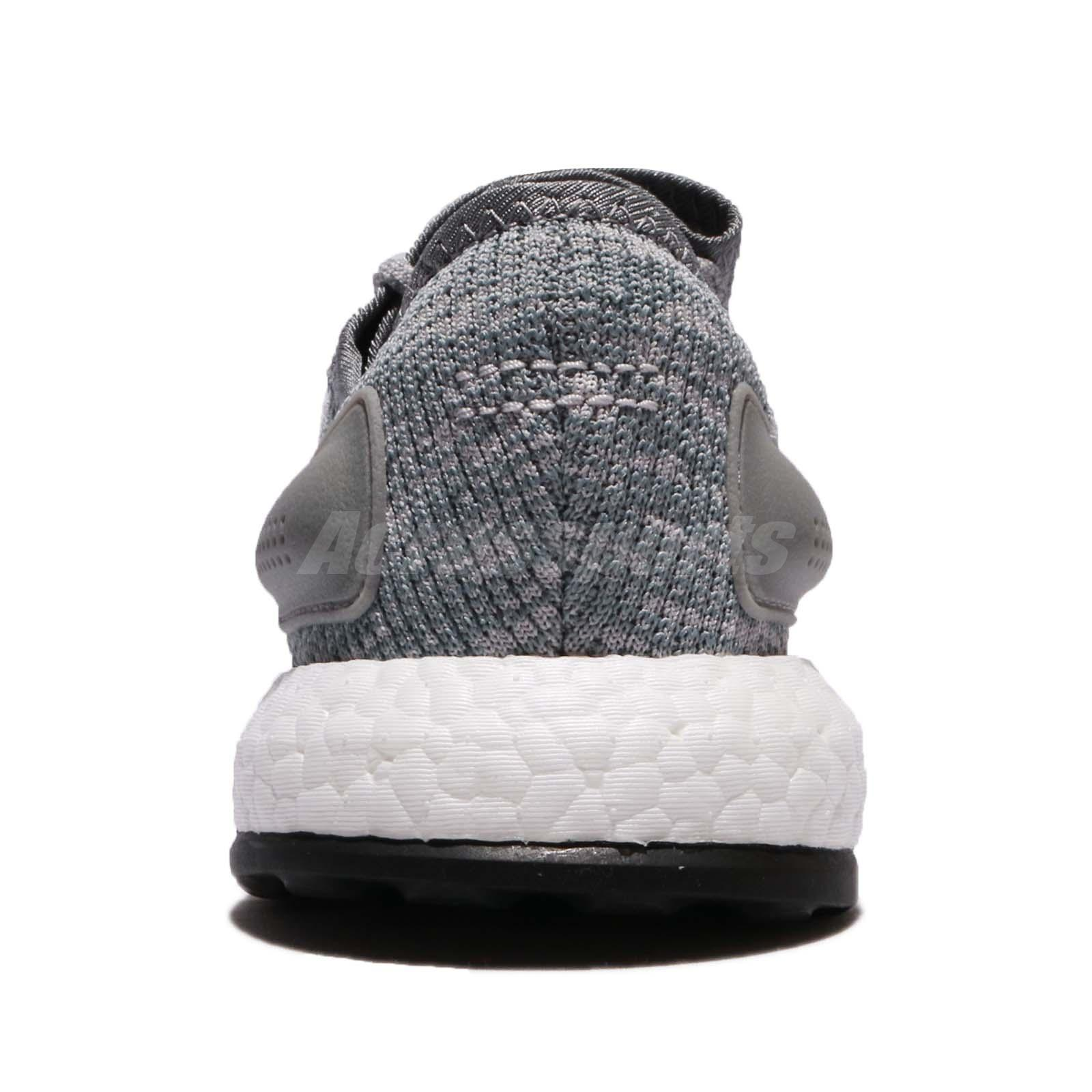 335f62087 adidas PureBOOST Grey White Men Running Shoes Sneakers Trainers ...