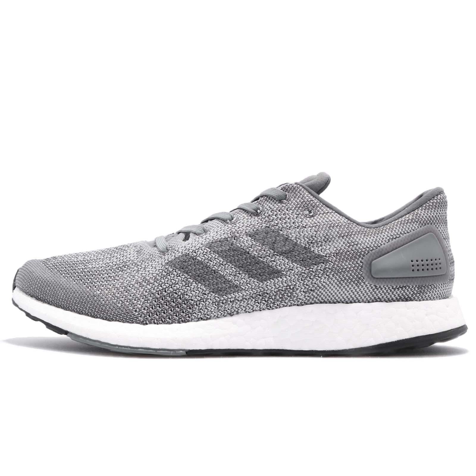 328d683c4ab9c adidas PureBOOST DPR Knit Grey White Men Running Shoes Sneakers Trainer  BB6290