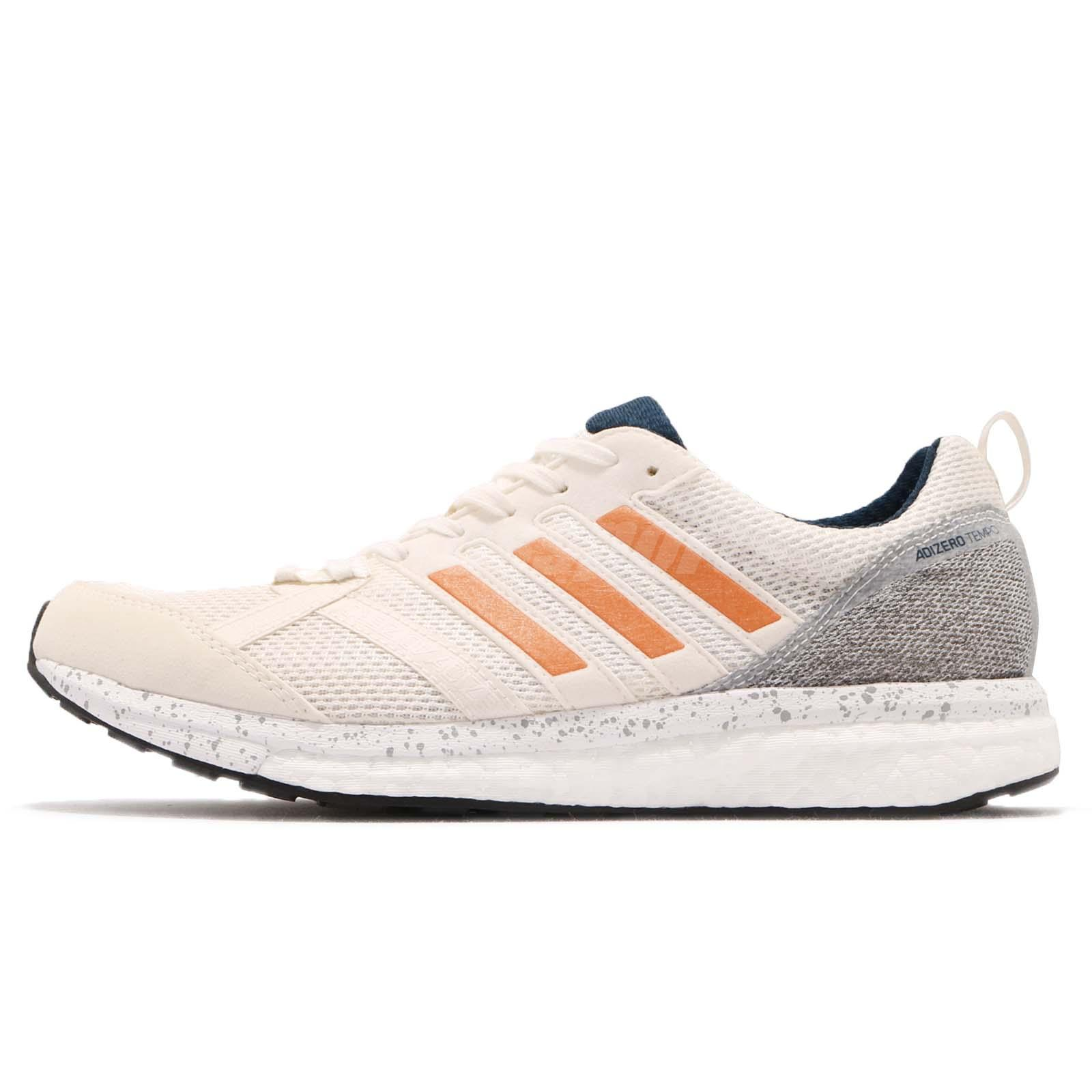 low priced f8e47 a1412 adidas Adizero Tempo 9 M Boost Off White Hi Res Orange Men Running Shoes  BB6433