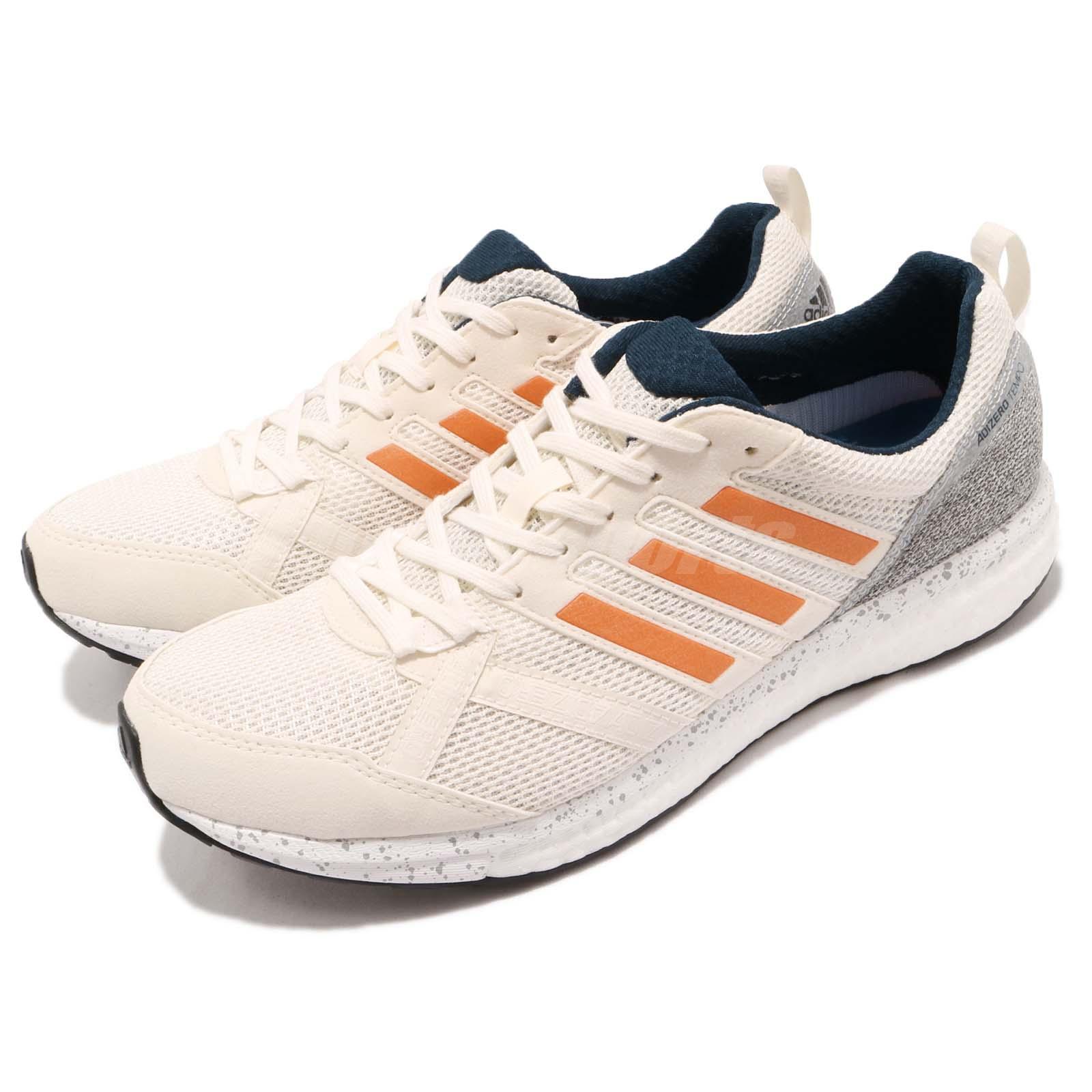 Details about adidas Adizero Tempo 9 M Boost Off White Hi Res Orange Men  Running Shoes BB6433 5cc4b7a1169