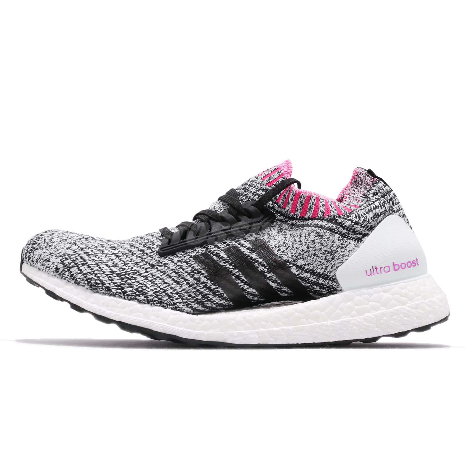 48c64421b3172 adidas UltraBOOST X White Black Shock Pink Women Running Shoes Sneakers  BB6524