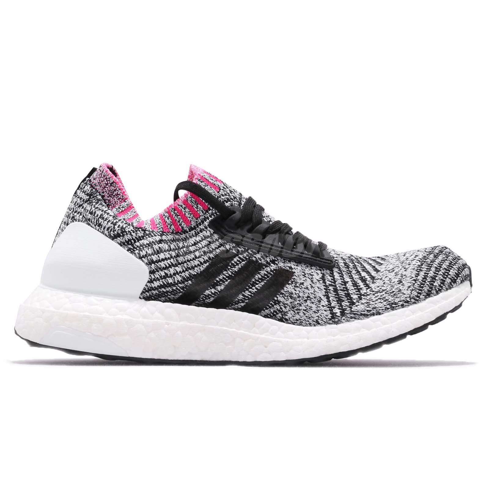 Details about adidas UltraBOOST X White Black Shock Pink Women Running Shoes Sneakers BB6524
