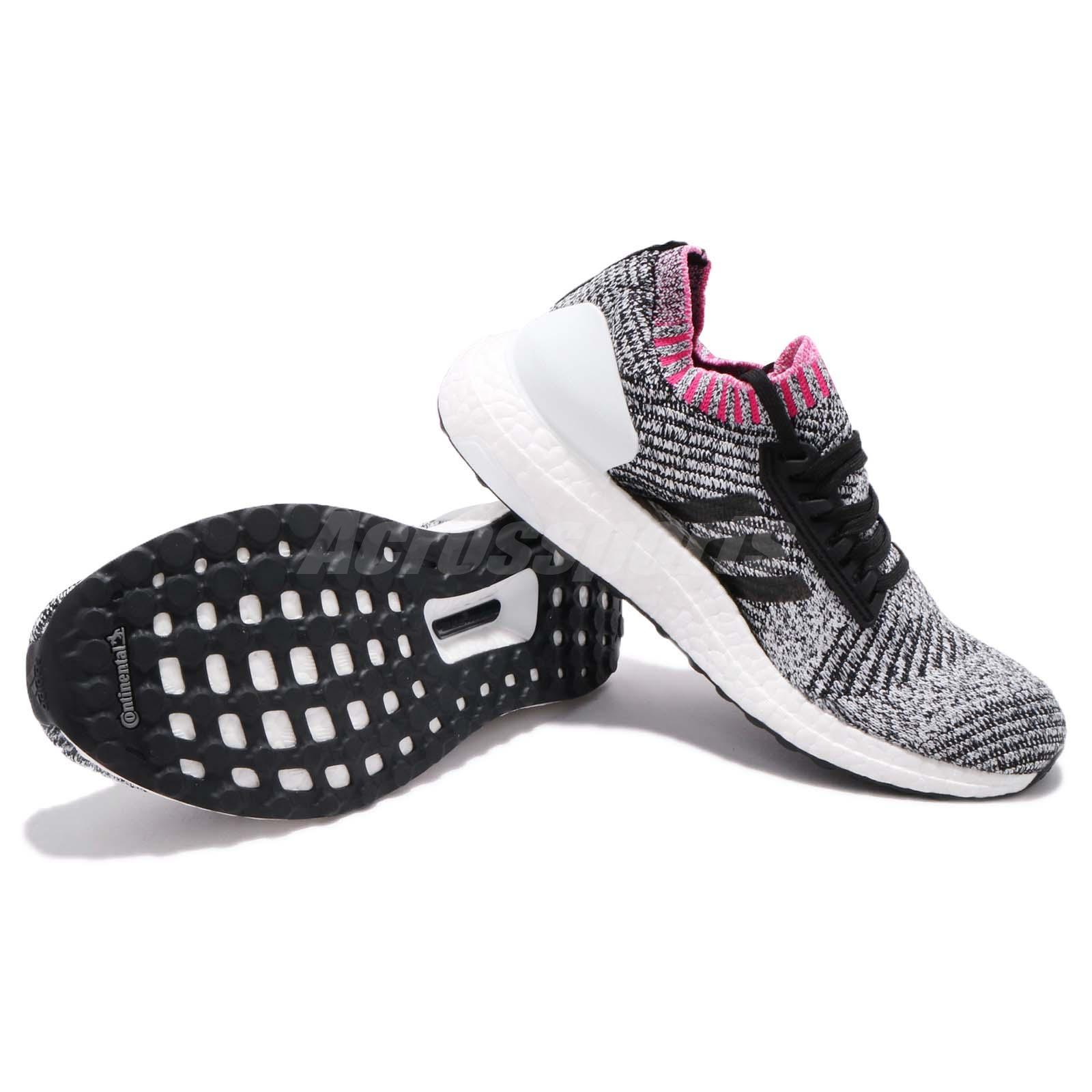 bb7609c8744 adidas UltraBOOST X White Black Shock Pink Women Running Shoes ...
