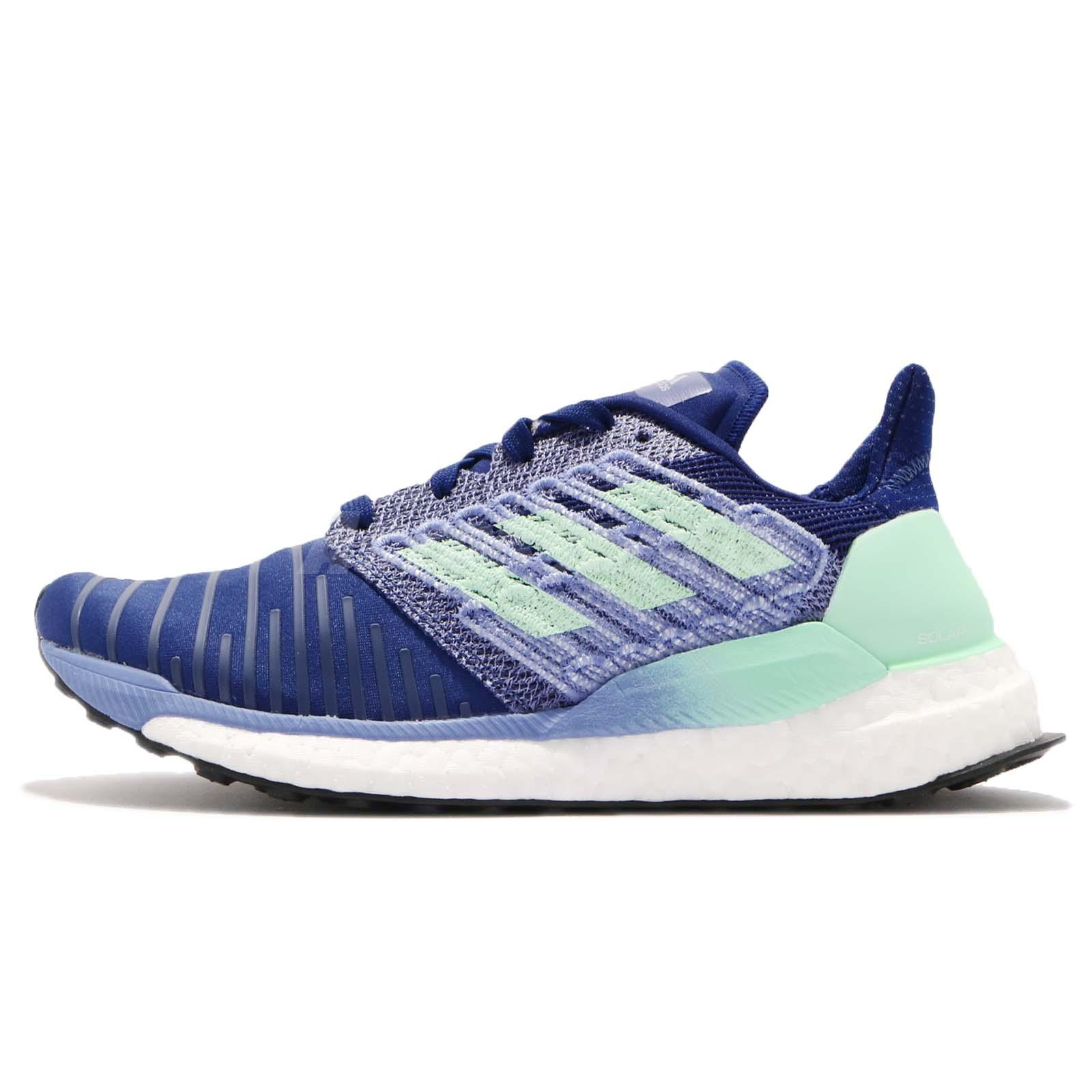 df4378880f1 adidas Solar BOOST W Blue Green White Women Running Shoes Sneakers BB6602