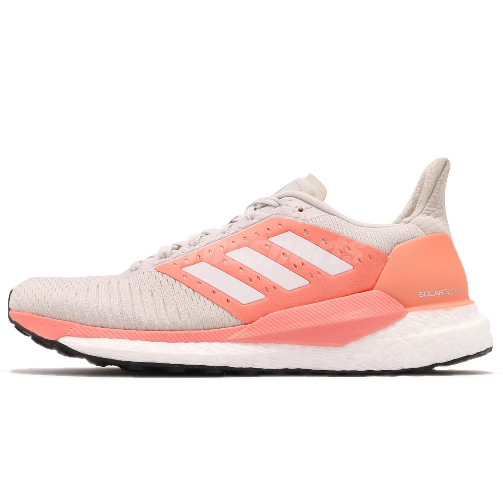 the best attitude a2c0c 18c53 Details about adidas Solar Glide ST W Boost Grey Chalk Coral Women Running  Shoe Sneaker BB6615