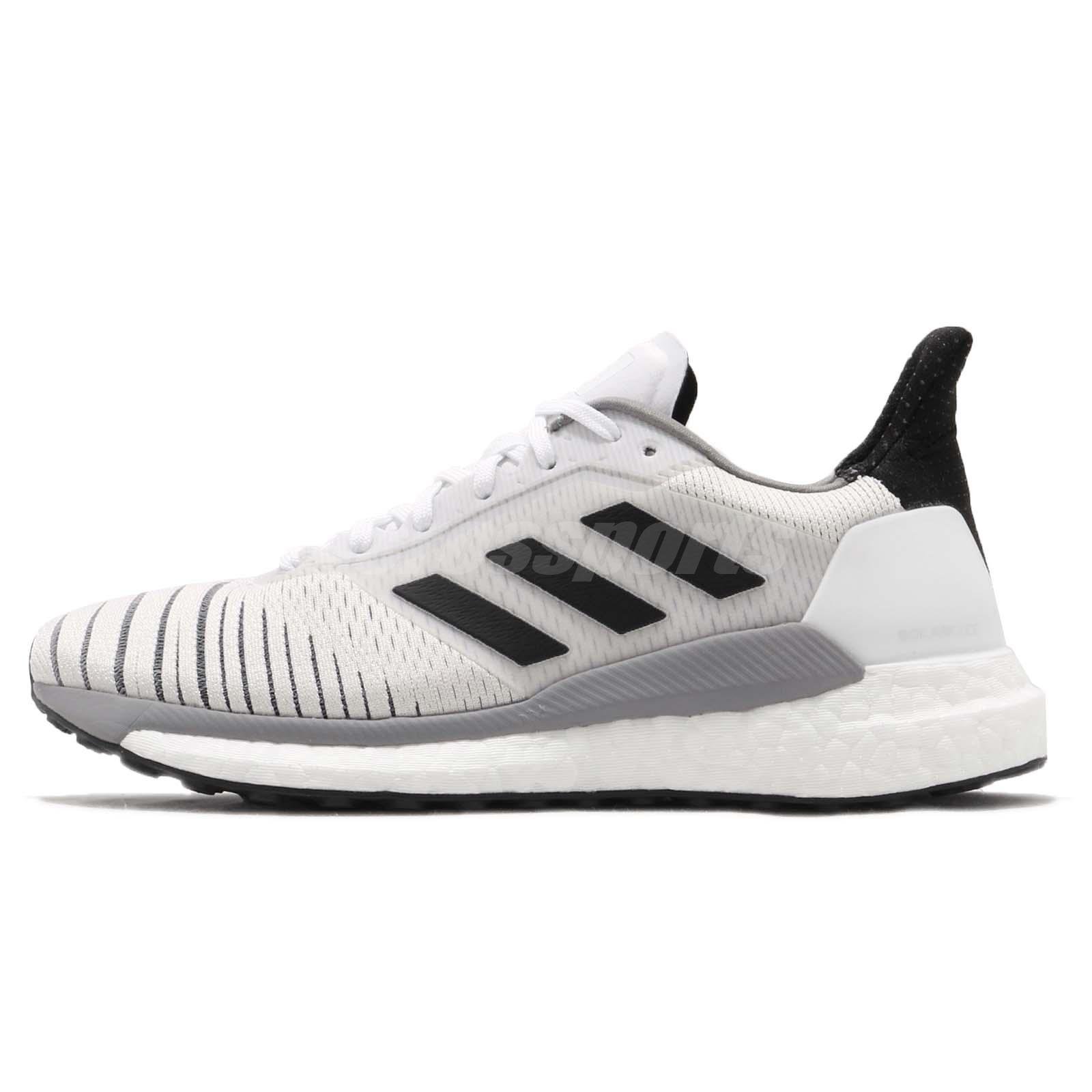 low priced 37e1d 4315e adidas Solar Glide W Boost White Black Grey Women Running Shoes Sneakers  BB6630
