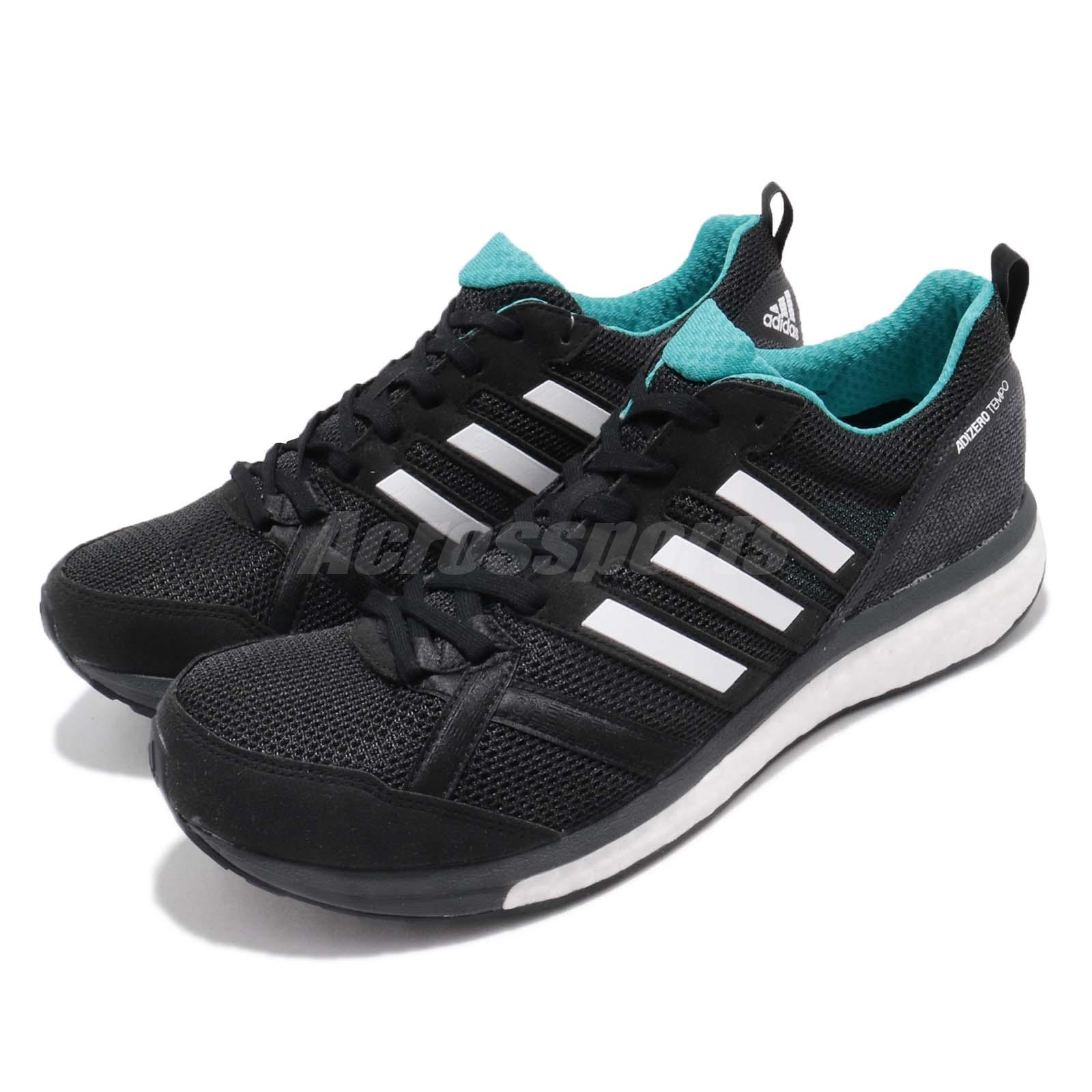 b348f884e1302 Details about adidas Adizero Tempo 9 BOOST Black White Continental Mens Running  Shoes BB6649