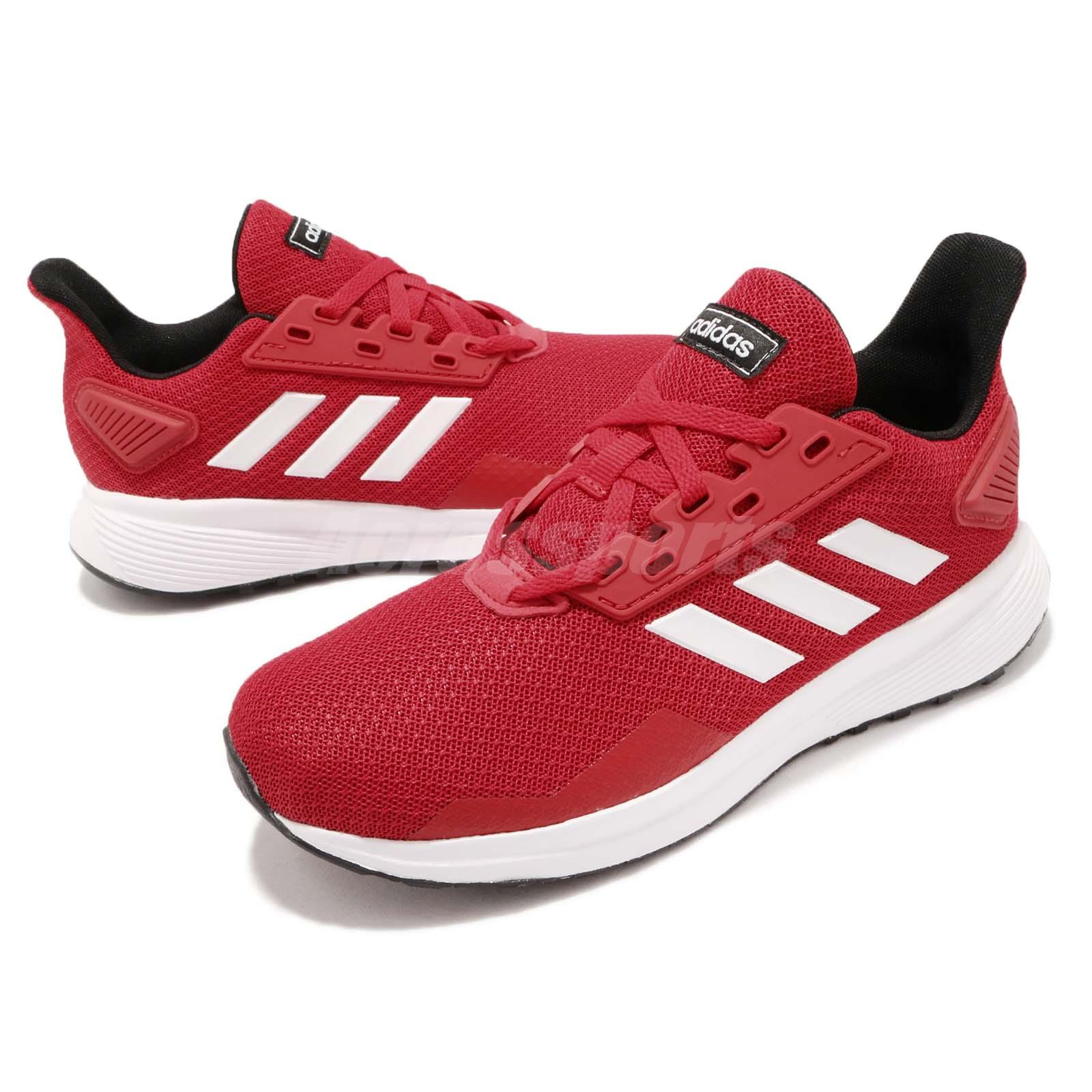 newest 59d9c 9bc56 Details about adidas Duramo 9 K Scarlet Red White Black Kid Junior Running  Shoe Sneaker BB7059