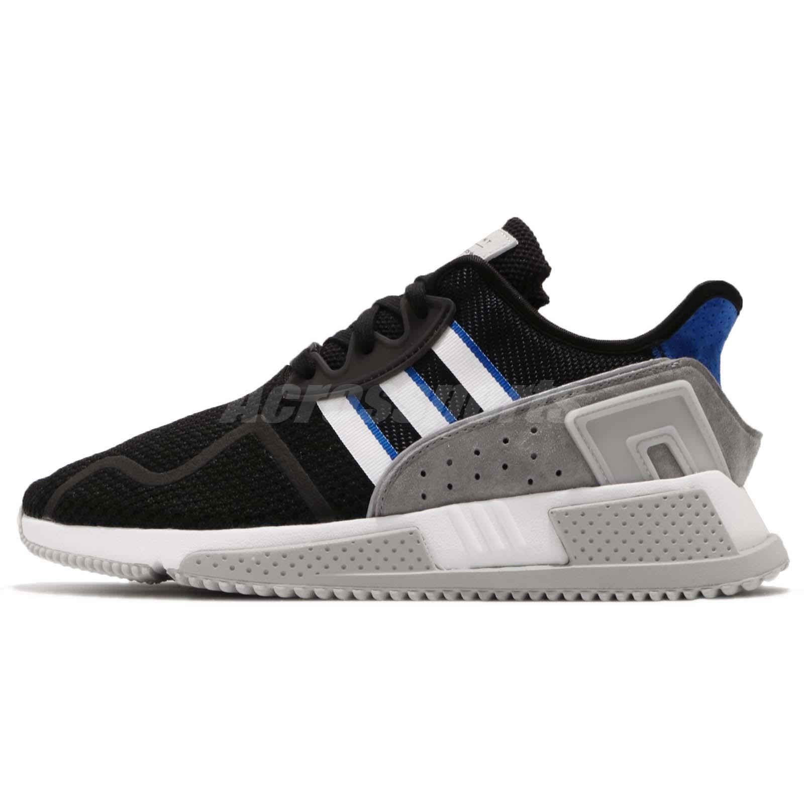 best service ba8bd ffbca adidas Originals EQT Cushion ADV Black Grey Blue Men Running Shoe Sneaker  BB7177