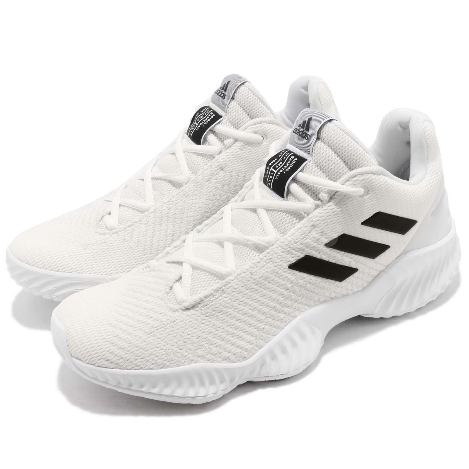 4e356c56474 Details about adidas Pro Bounce 2018 Low White Black Men Basketball Shoes  Sneakers BB7410