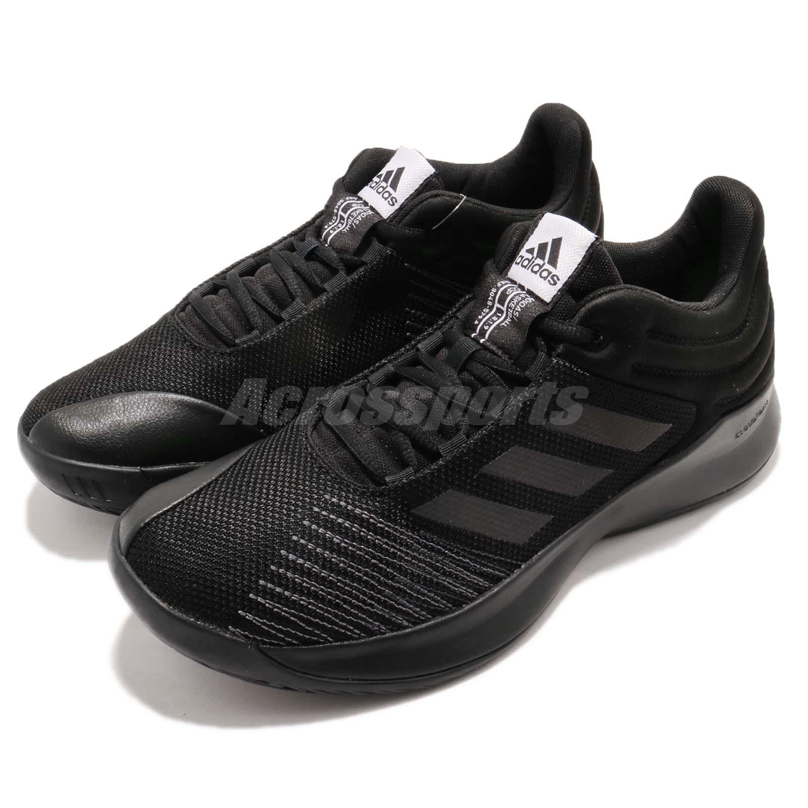 03827a88f755 Details about adidas Pro Spark Low 2018 Black White Men Basketball Shoes  Sneakers BB7539