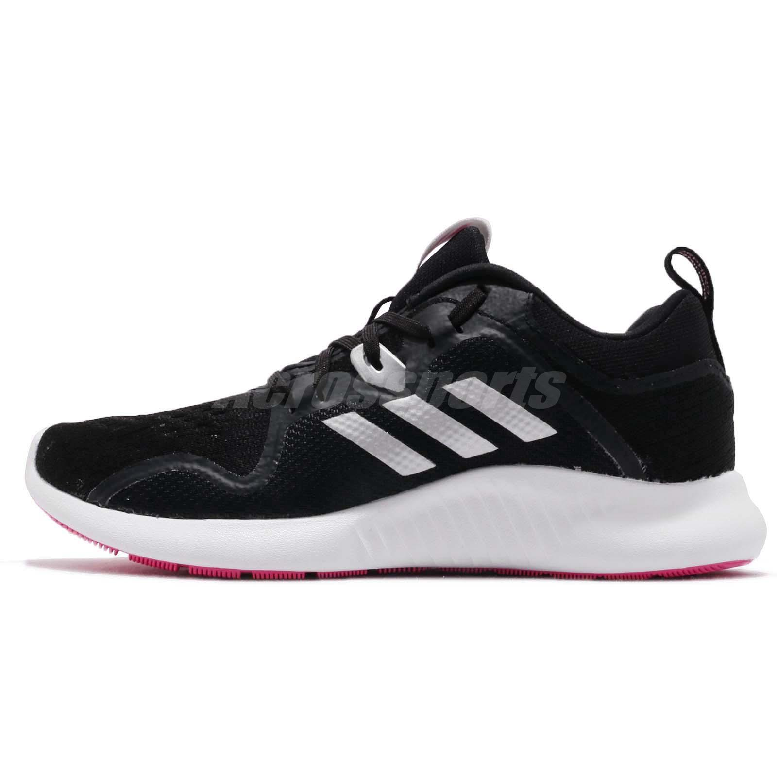 adidas EdgeBOUNCE W Black Silver Pink White Women Running Shoes Sneakers BB7563