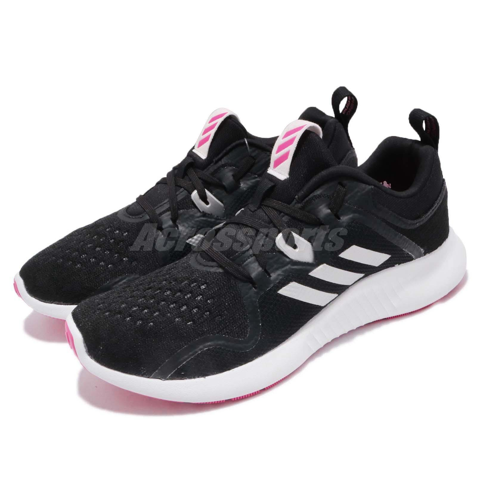 e4c03db154e59 Details about adidas EdgeBOUNCE W Black Silver Pink White Women Running  Shoes Sneakers BB7563