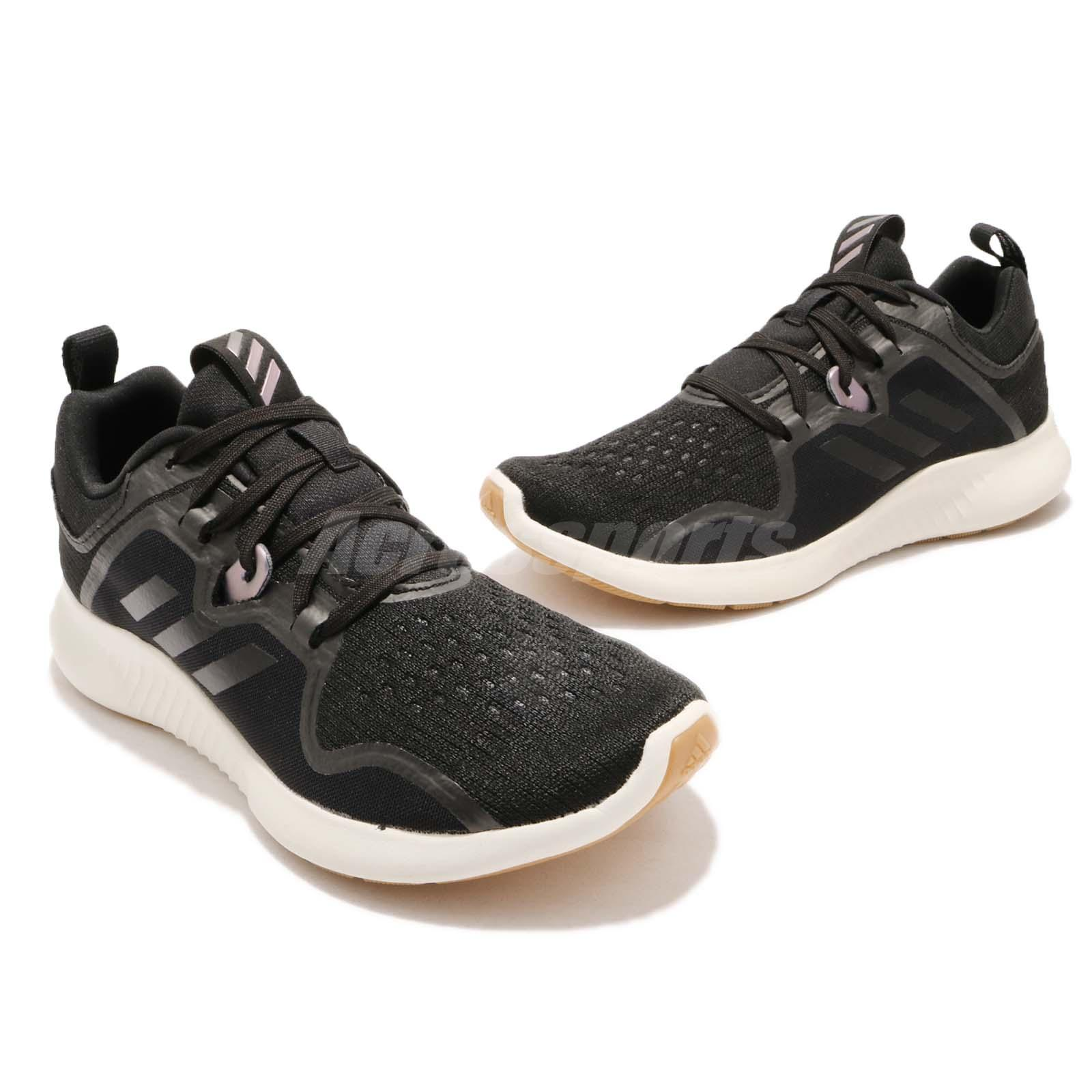 b7beb04f7 adidas EdgeBOUNCE W Black White Gum BOUNCE Cushion Womens Running ...