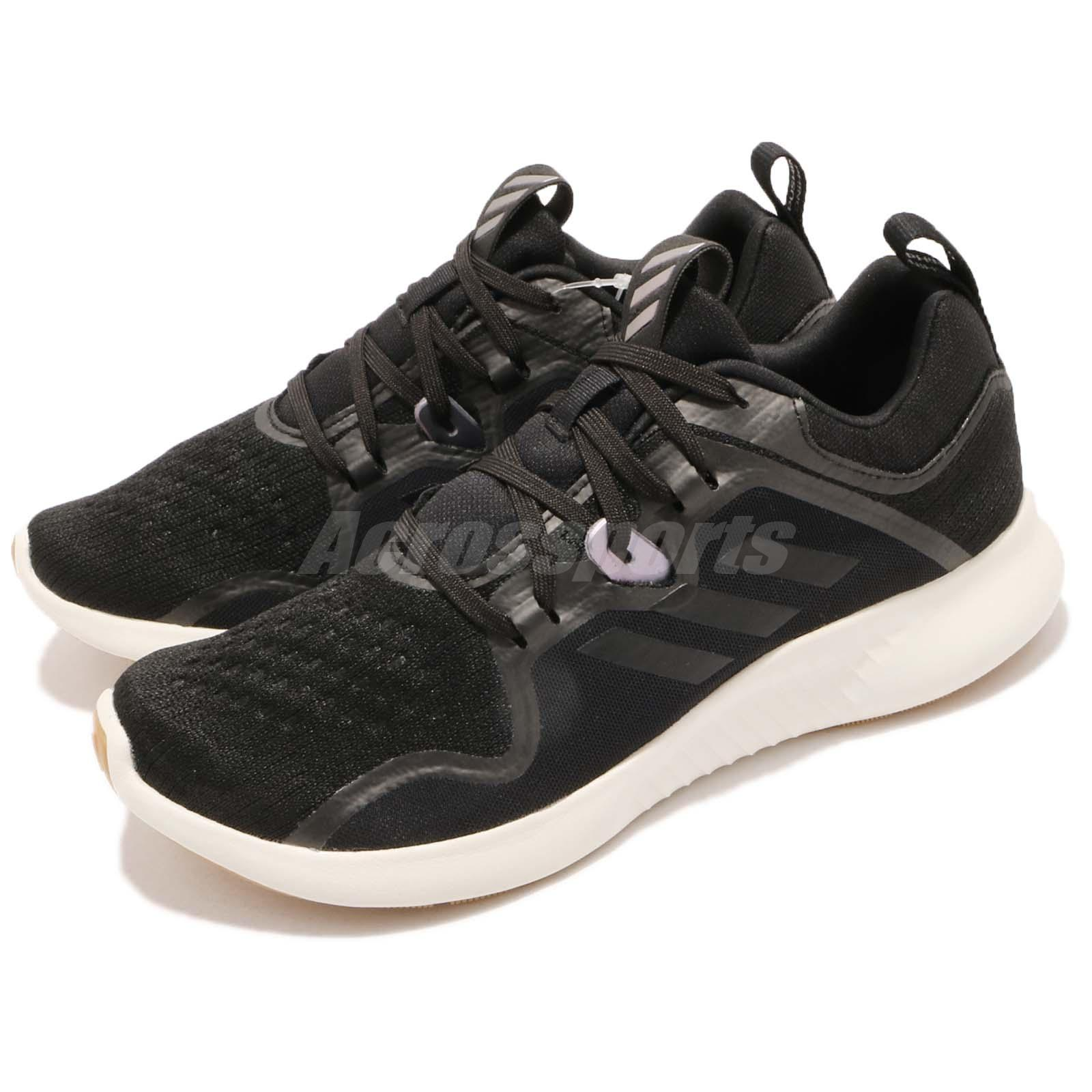 90f497c0f Details about adidas EdgeBOUNCE W Black White Gum BOUNCE Cushion Womens Running  Shoes BB7566