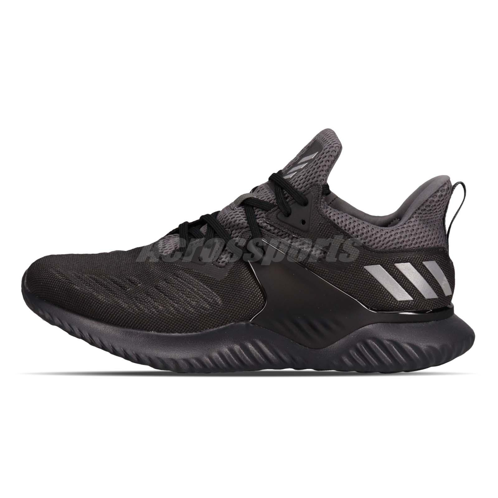 c2c5c39e0 adidas Alphabounce Beyond 2 M Black Silver Men Running Shoes Sneakers BB7568