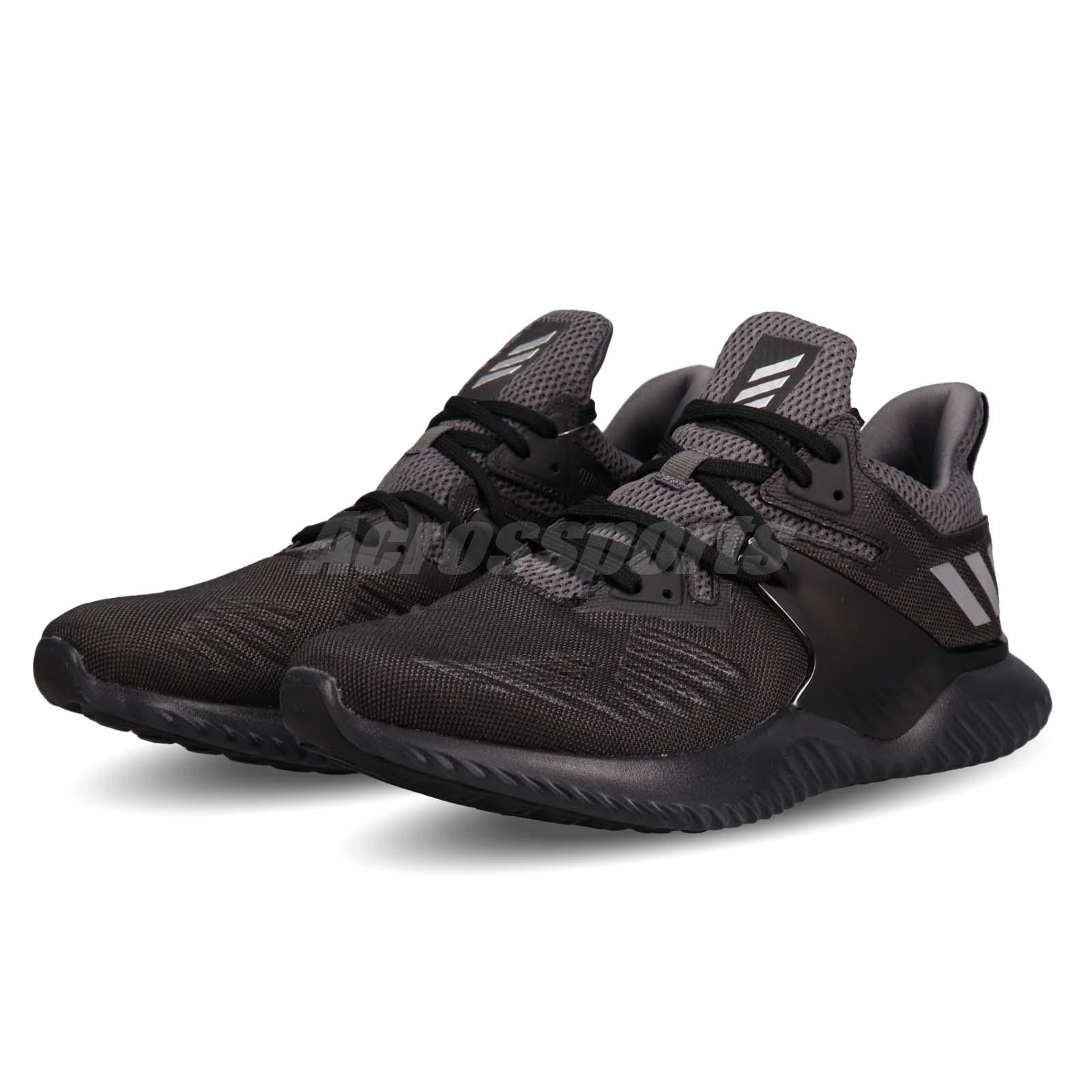 huge discount c3f30 baa90 Details about adidas Alphabounce Beyond 2 M Black Silver Men Running Shoes  Sneakers BB7568