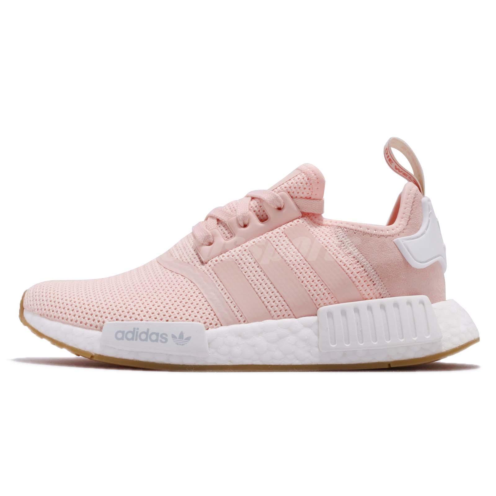 3a14978b9c7 adidas Originals NMD R1 W Boost Pink White Gum Women Running Shoe Sneaker  BB7588