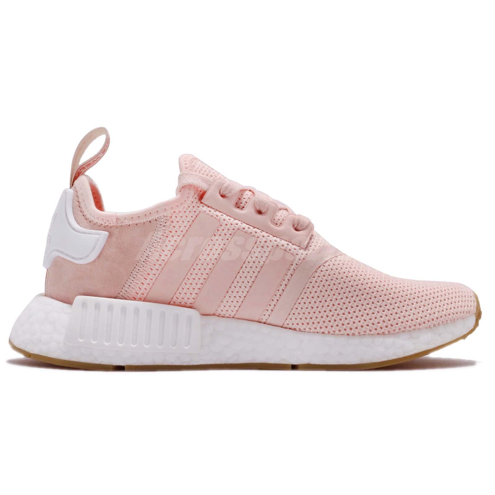cda7047fc6b adidas Originals NMD R1 W Boost Pink White Gum Women Running Shoe ...