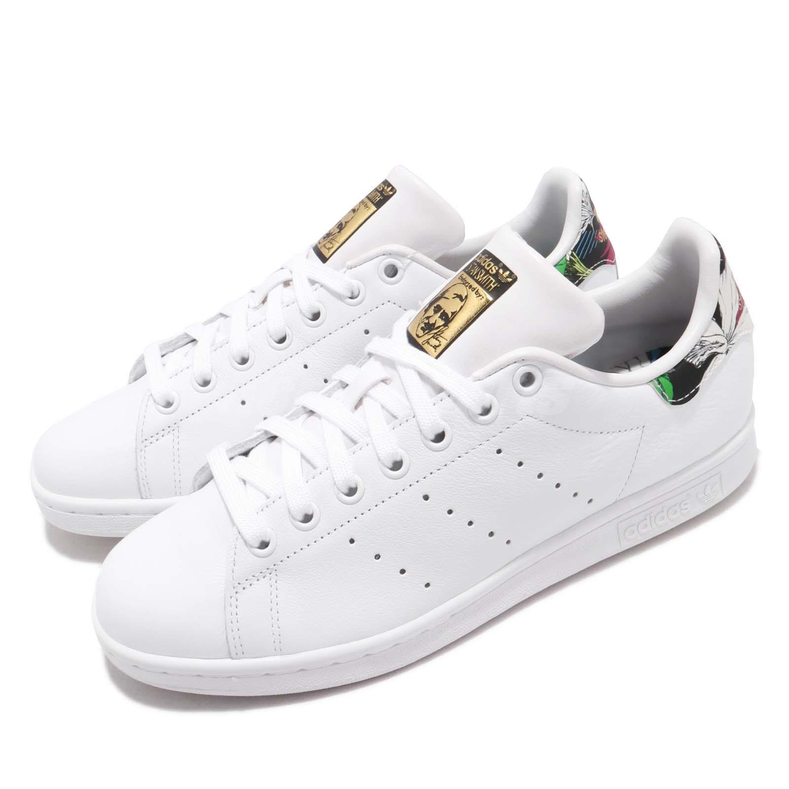 cc36c7a469b Details about adidas Originals Stan Smith W White Gold Mint Floral Women  Casual Shoes BB7778
