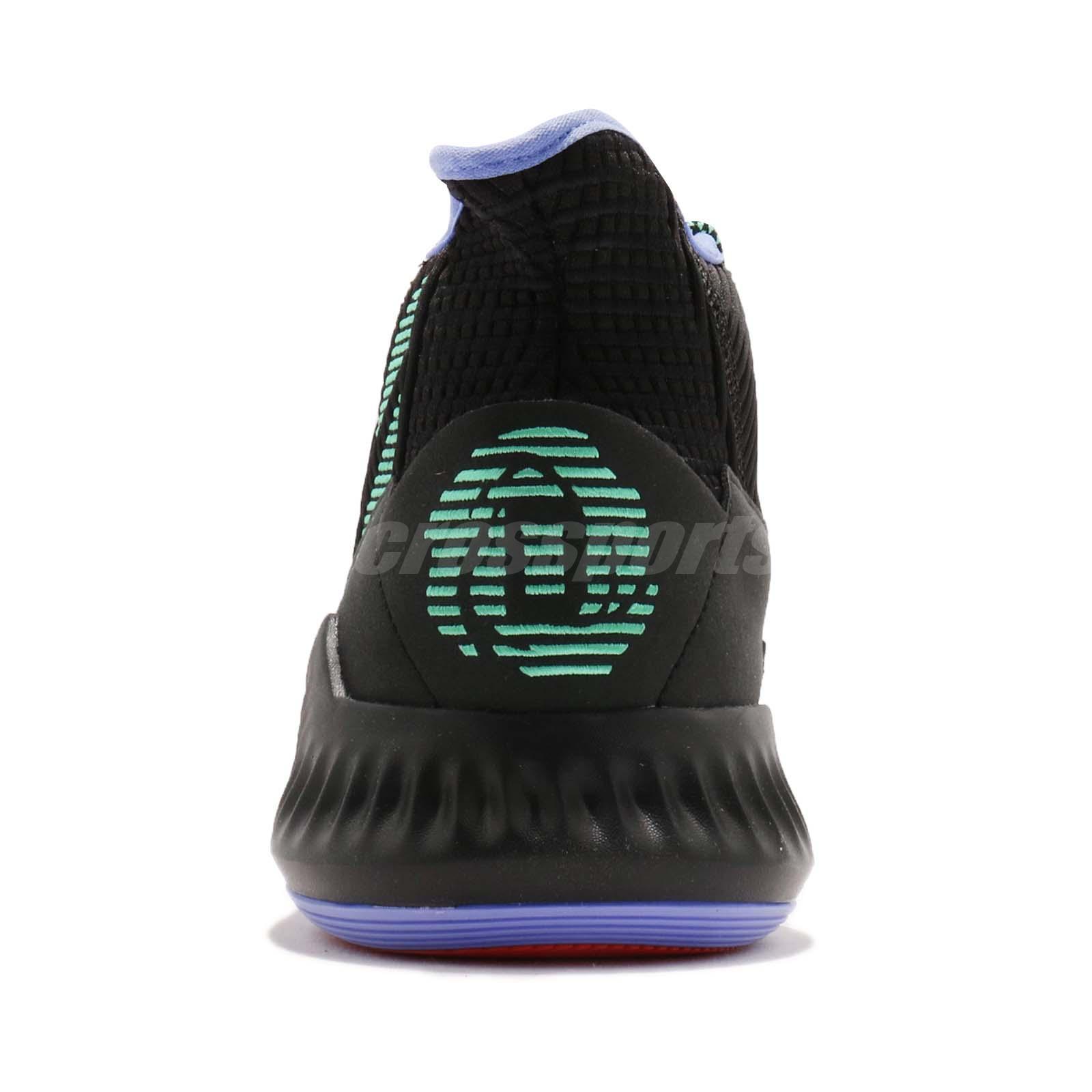 7737e6468d0f adidas D Rose 9 Derrick Black Green Purple BOUNCE Mens Basketball ...