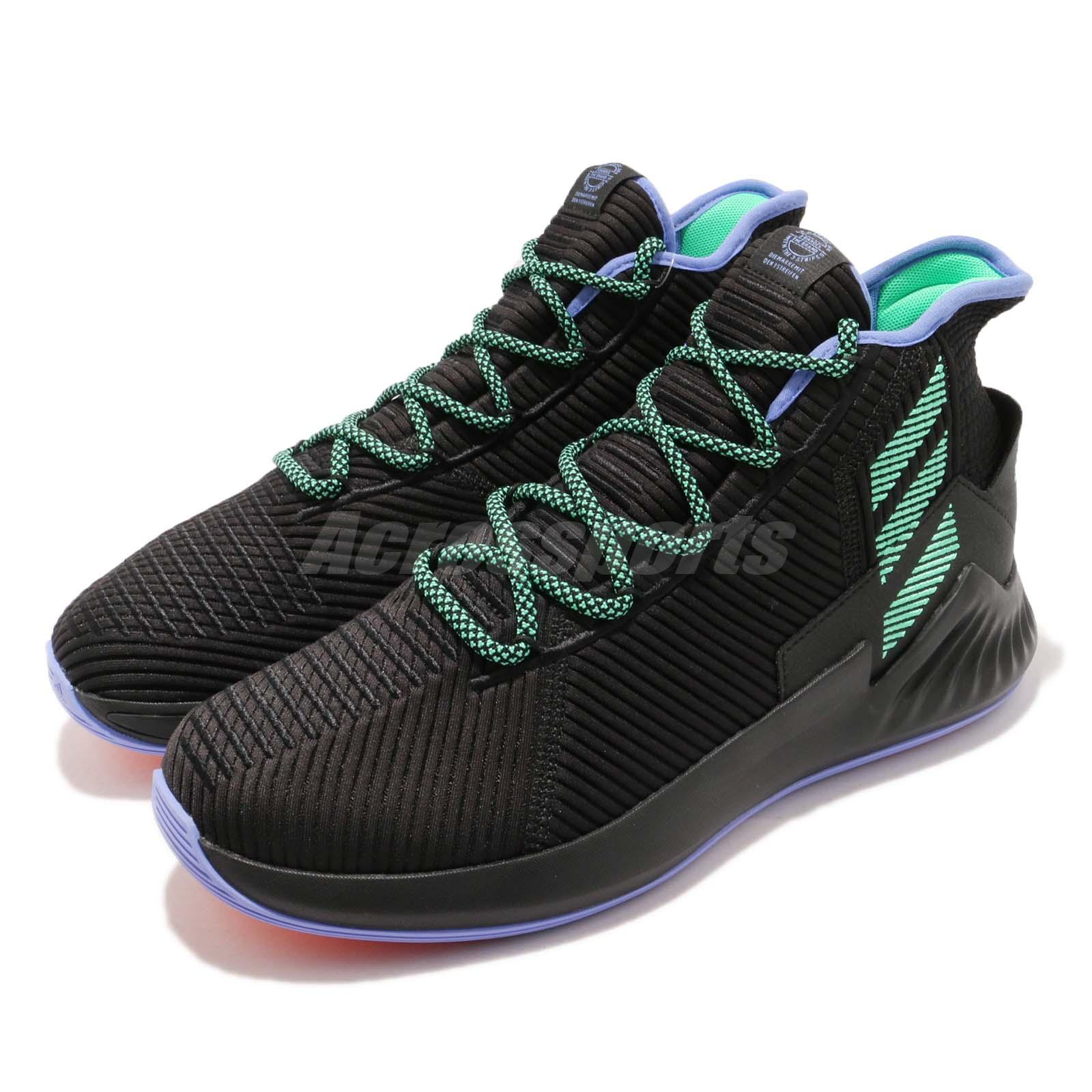 50137dac1 Details about adidas D Rose 9 Derrick Black Green Purple BOUNCE Mens  Basketball Shoes BB8018