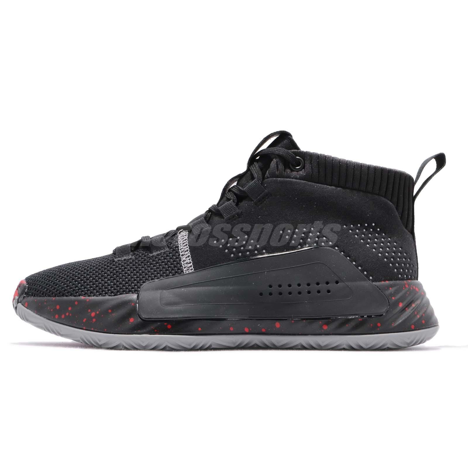 adidas Dame 5 J V Damian Lillard Black Grey Red Kid Women Basketball Shoe  BB8062 cf51f15ef