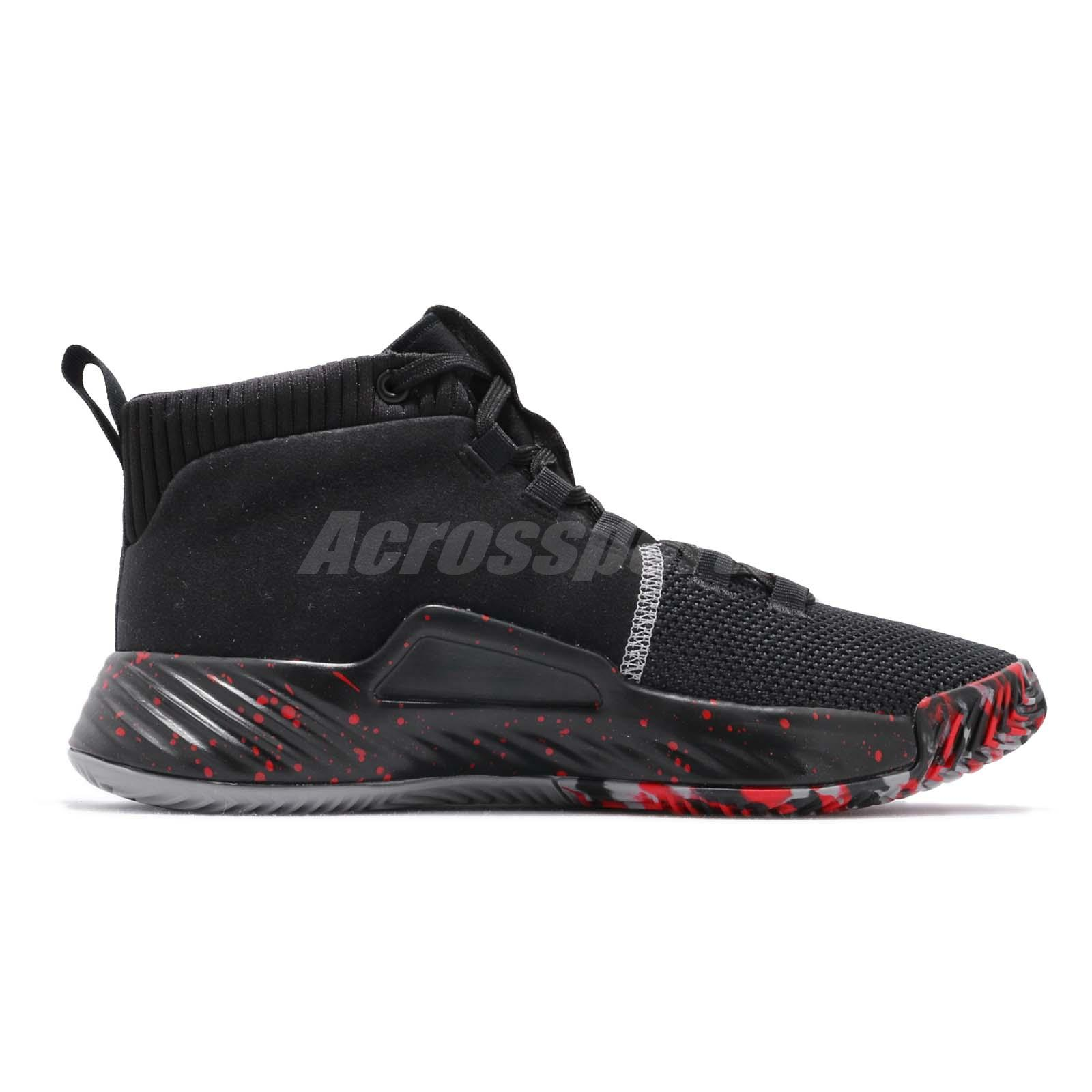 905c8bf5c adidas Dame 5 J V Damian Lillard Black Grey Red Kid Women Basketball ...