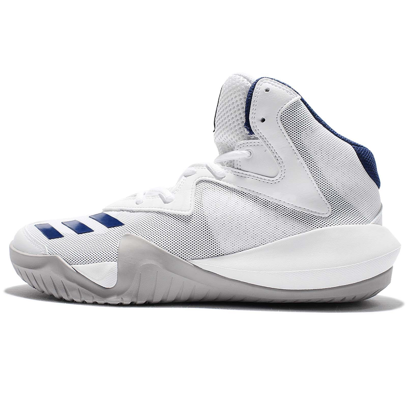 adidas Crazy Team 2017 White Grey Men Basketball Shoes Sneakers BB8256