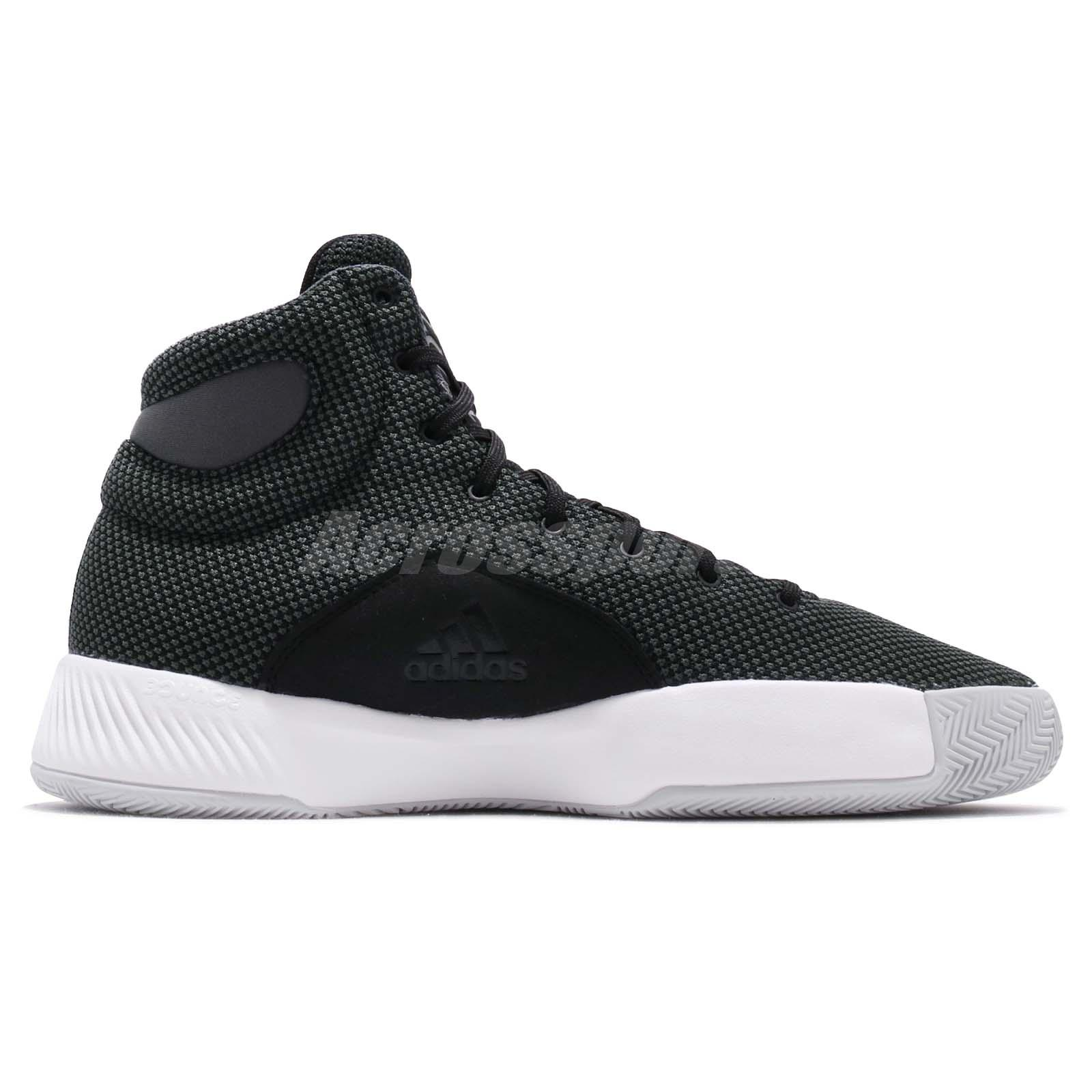 5510adba897f adidas Pro Bounce Madness 2019 Black White Grey Men Basketball Shoes ...