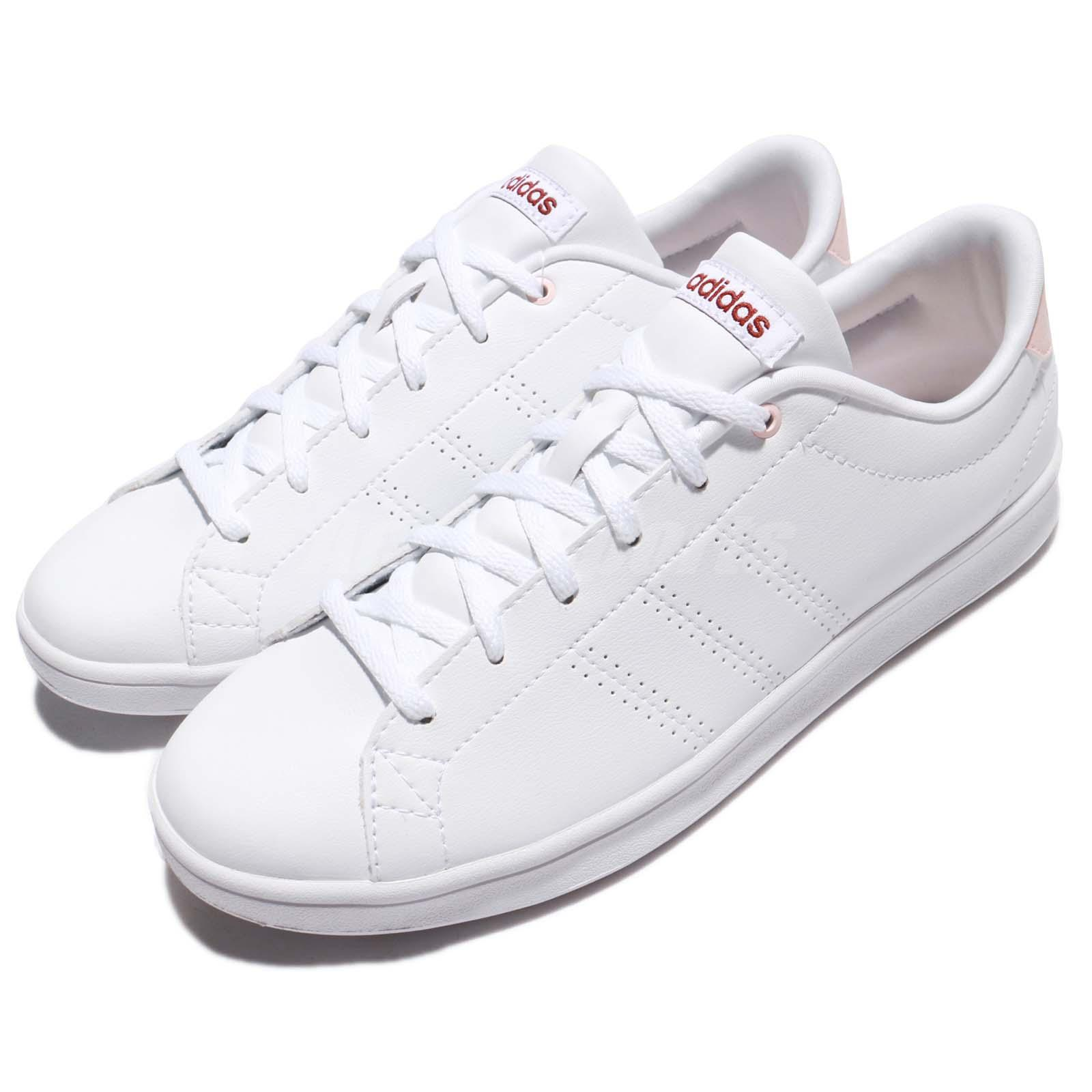 hot sale online 4b9fe 9bc28 Détails  adidas Neo Advantage CL Clean QT W White Mystery Ruby Pink Women  Shoes BB9611
