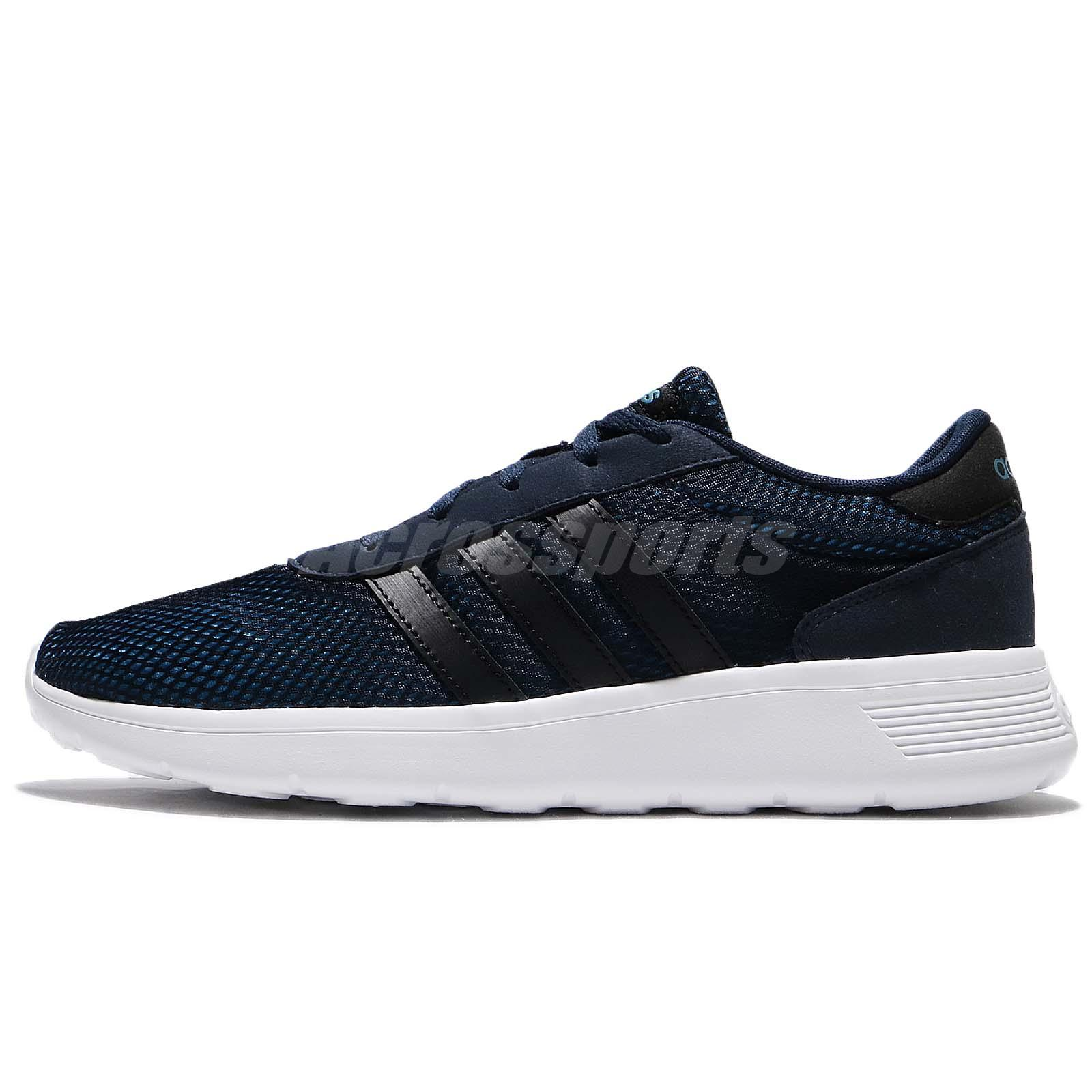 adidas neo men's lite racer black silver and solblu running shoes